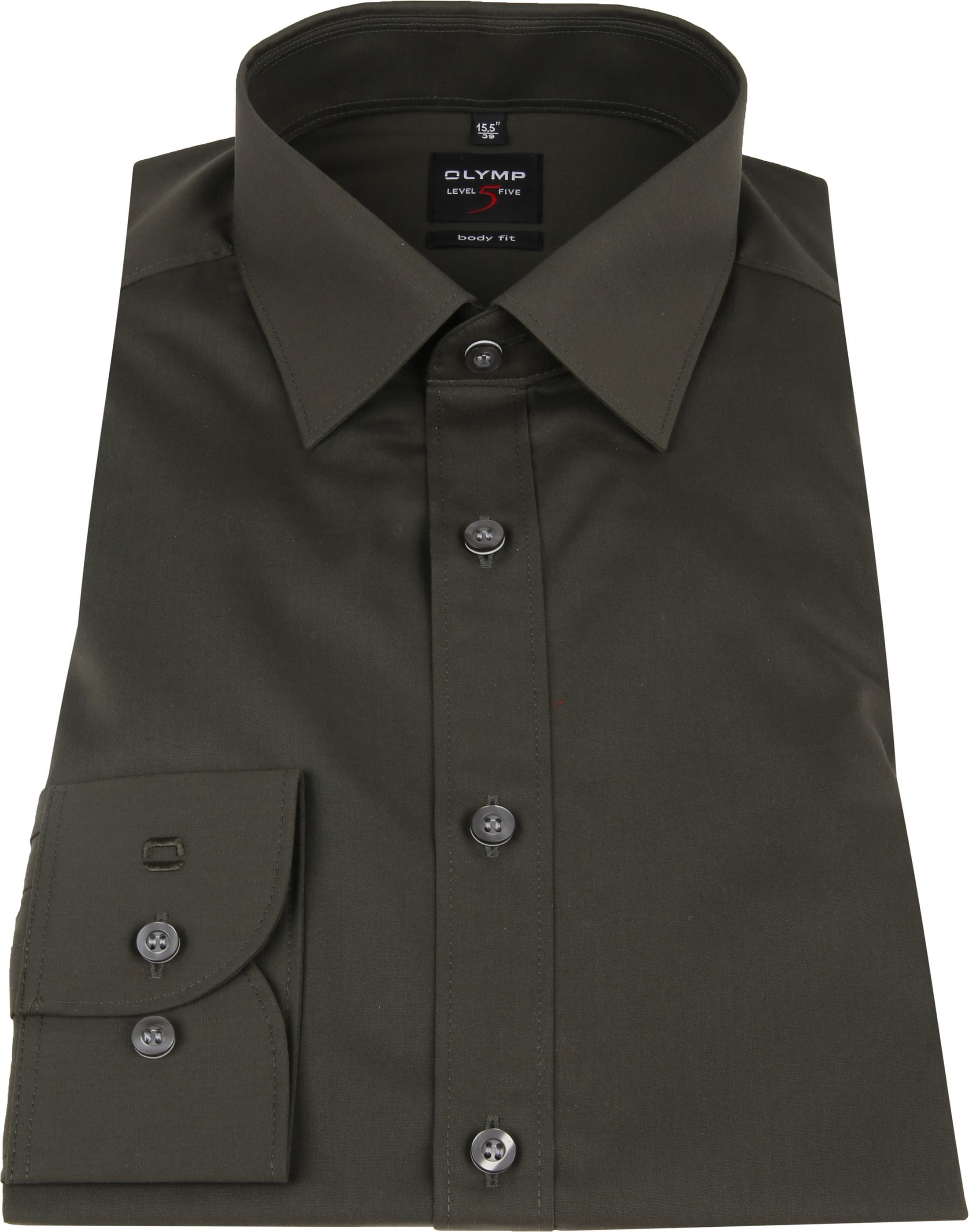 OLYMP Overhemd Donkergroen Body Fit foto 2