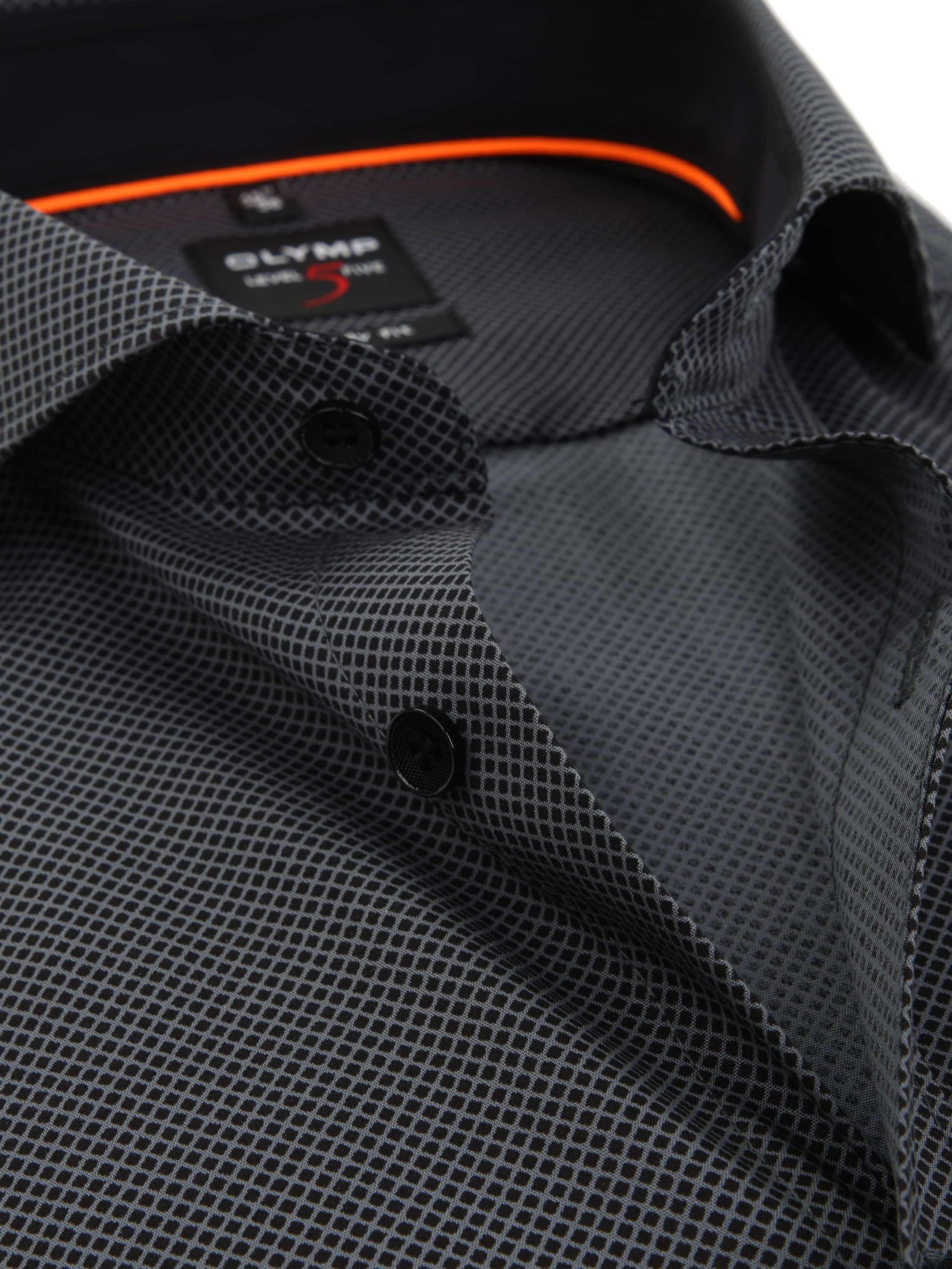 OLYMP Overhemd Level 5 BF Checks Grey foto 1