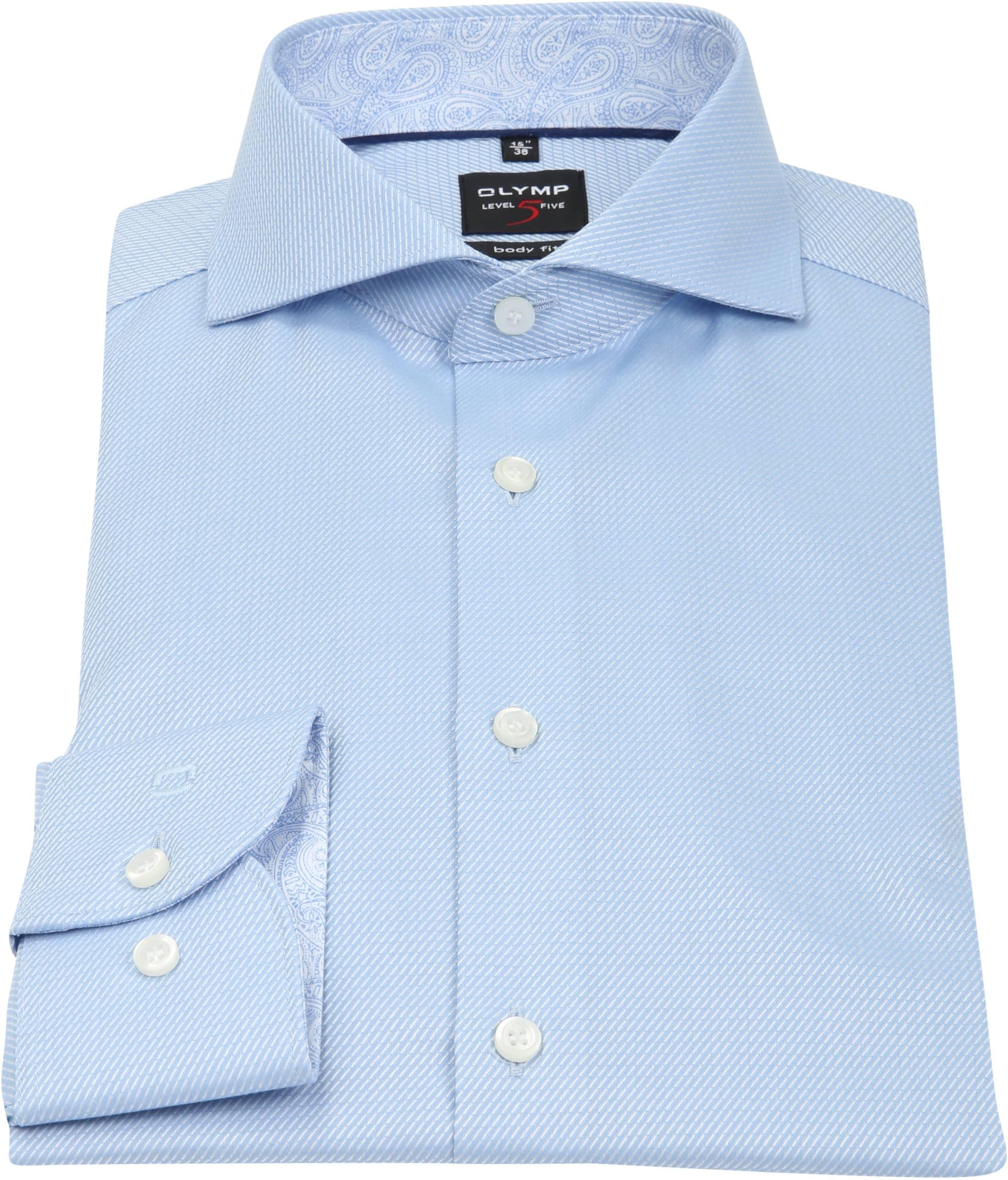 OLYMP Overhemd Level 5 BF Light Blue foto 3
