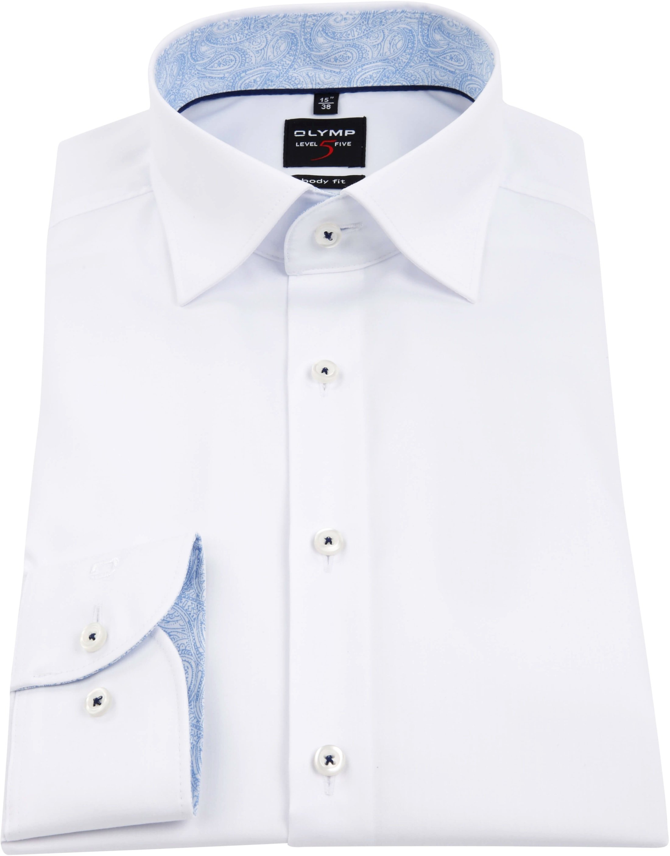 OLYMP Overhemd Level 5 BF Wit foto 3
