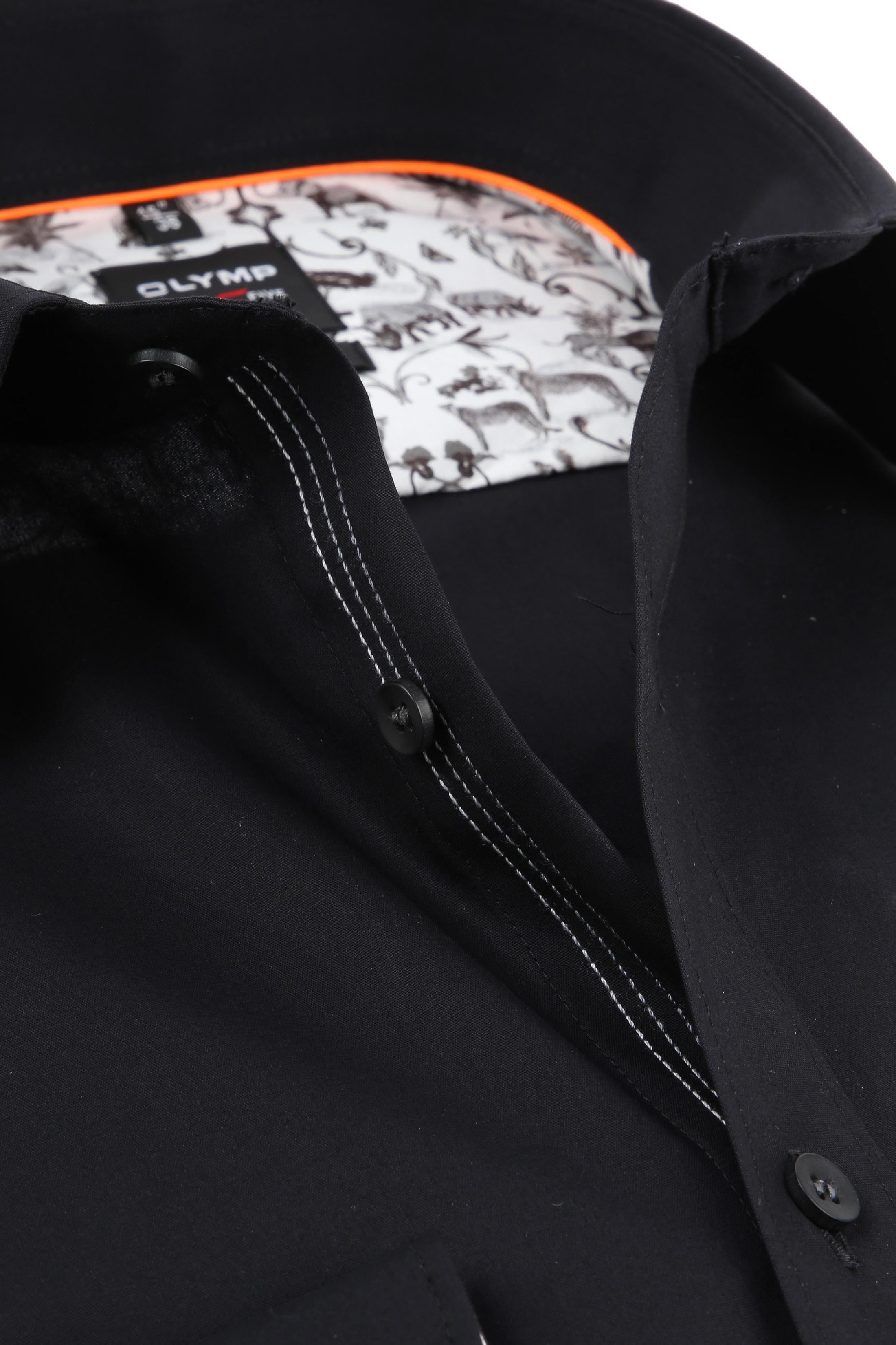 OLYMP Overhemd Level 5 BF Zwart foto 1