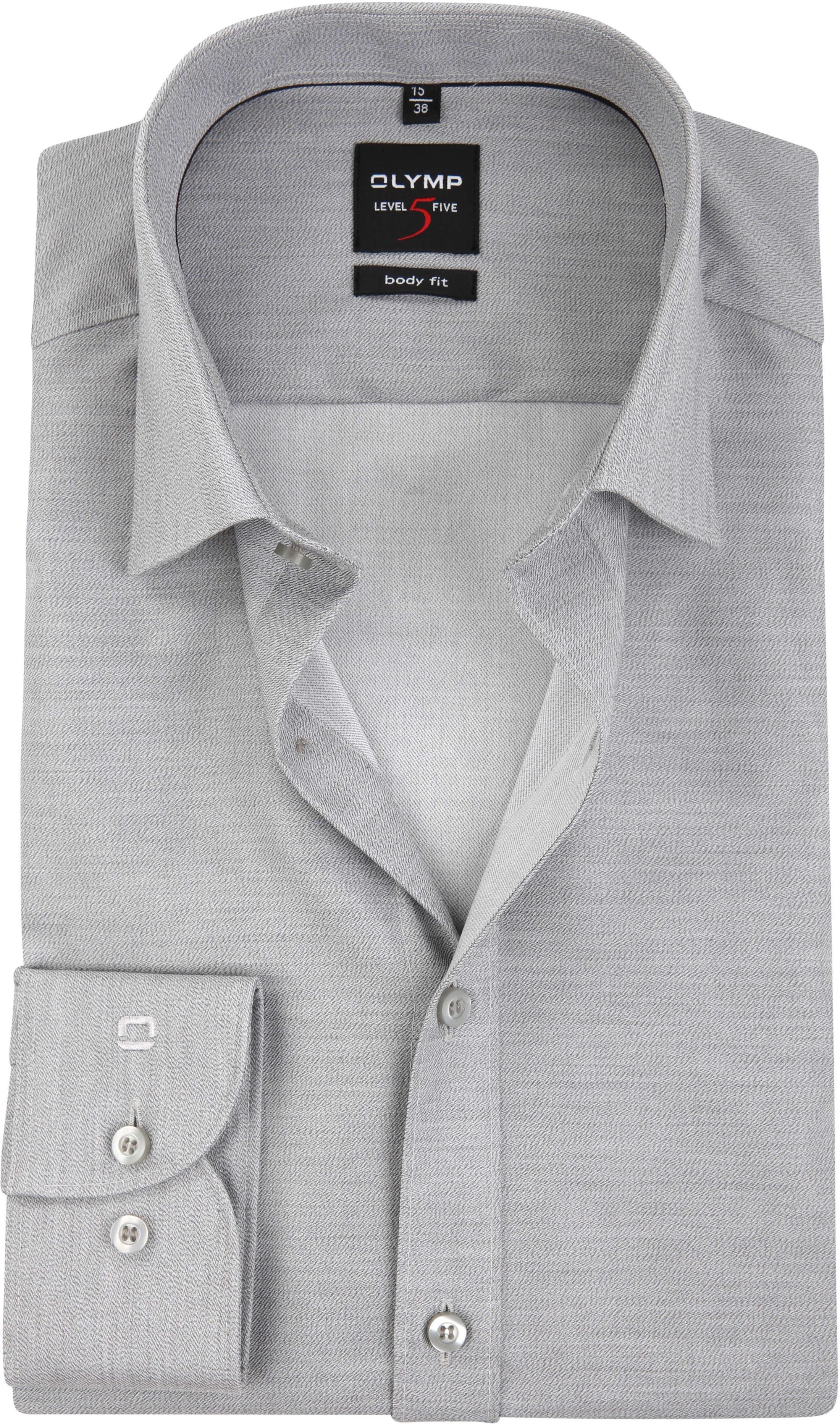 OLYMP Overhemd Level 5 Body-Fit Grijs foto 0