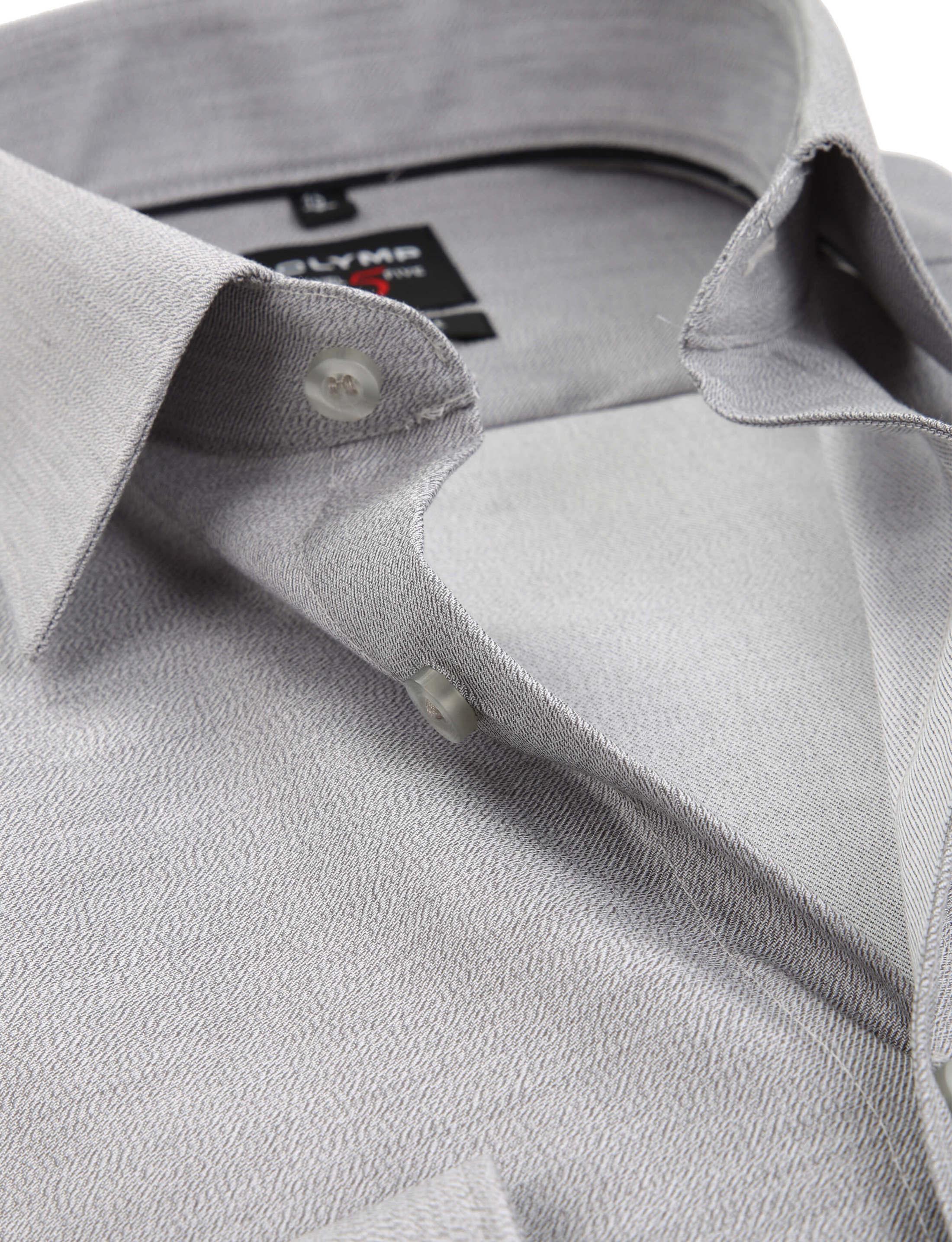 OLYMP Overhemd Level 5 Body-Fit Grijs foto 1