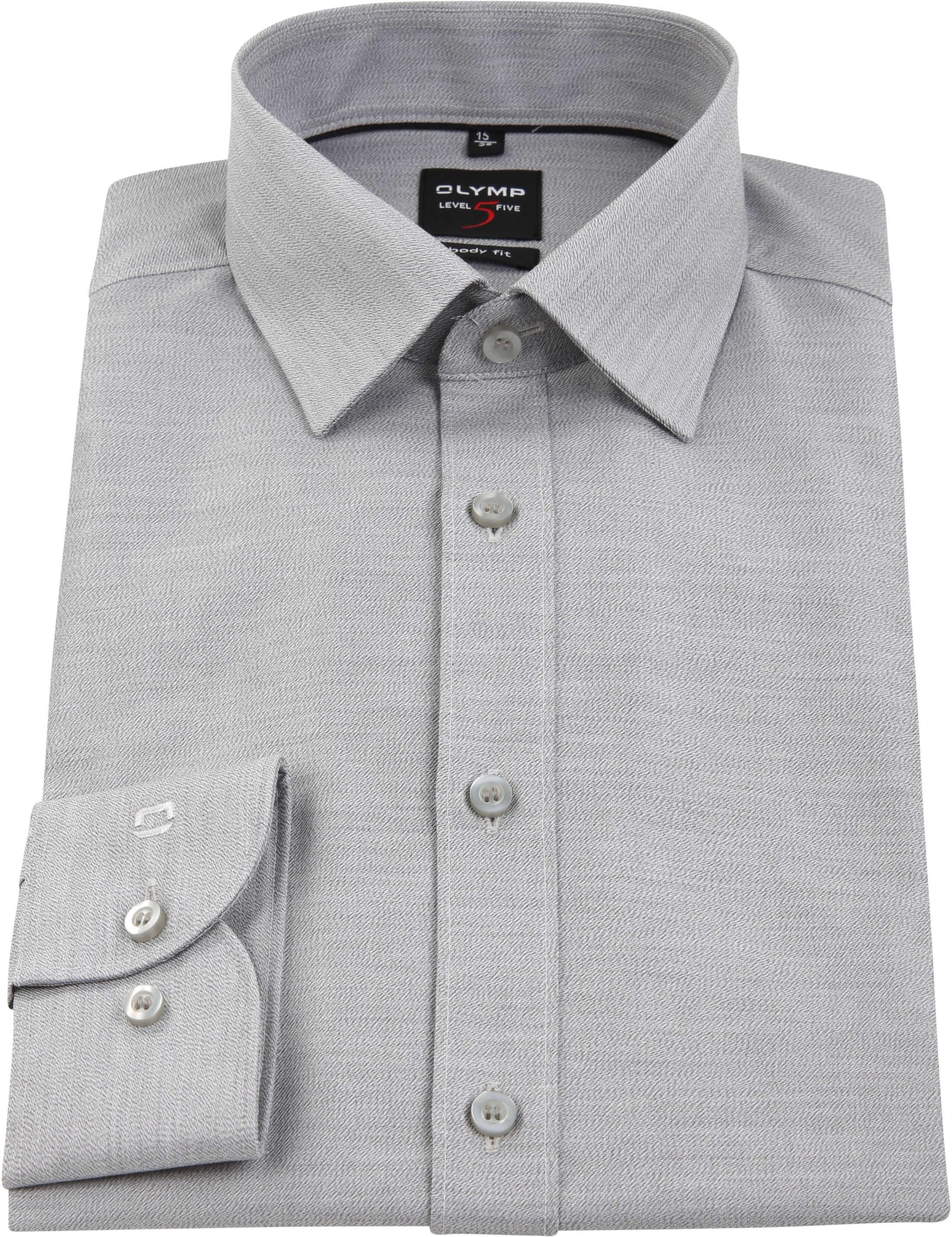 OLYMP Overhemd Level 5 Body-Fit Grijs foto 3