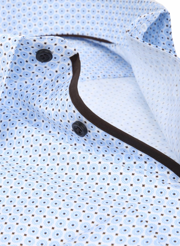 OLYMP Overhemd Level 5 Dessin Blauw foto 1