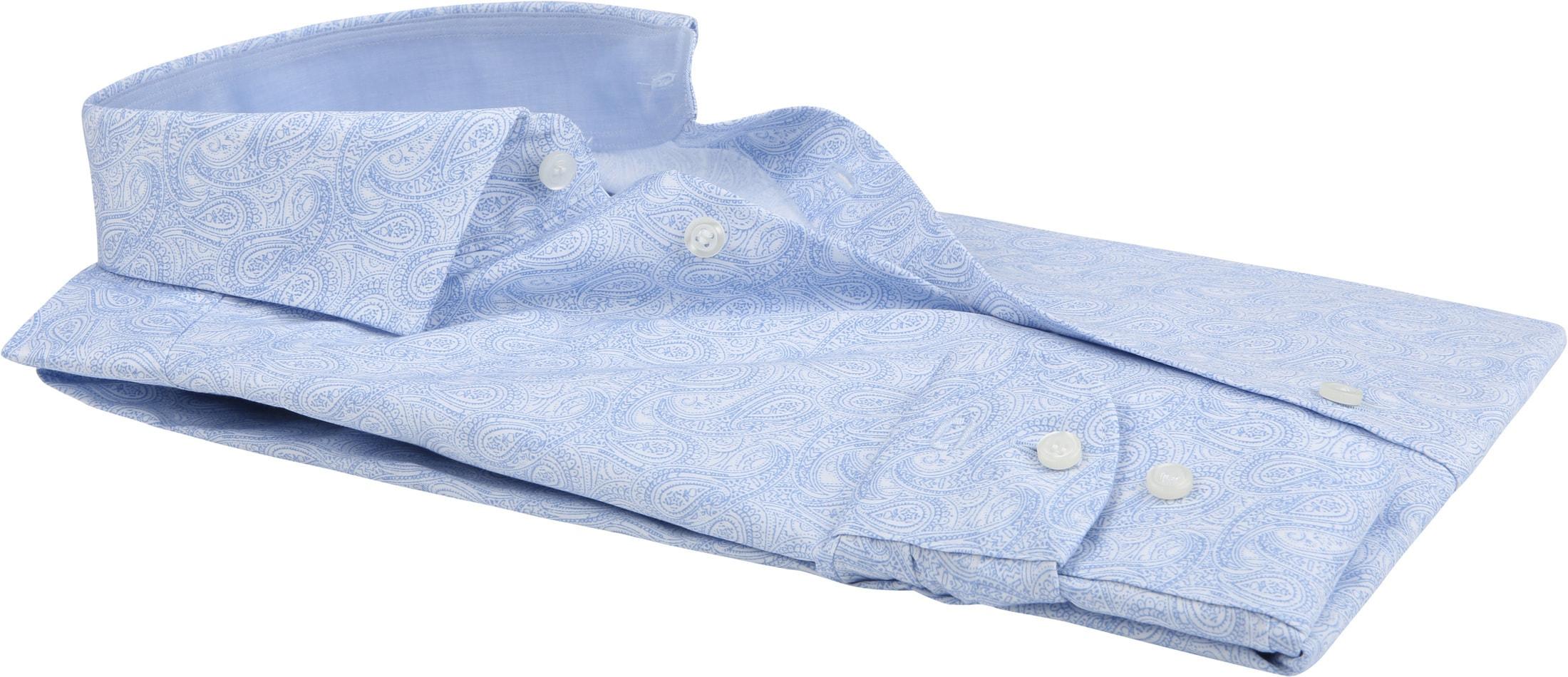 OLYMP Overhemd Level 5 Paisley Blauw foto 2