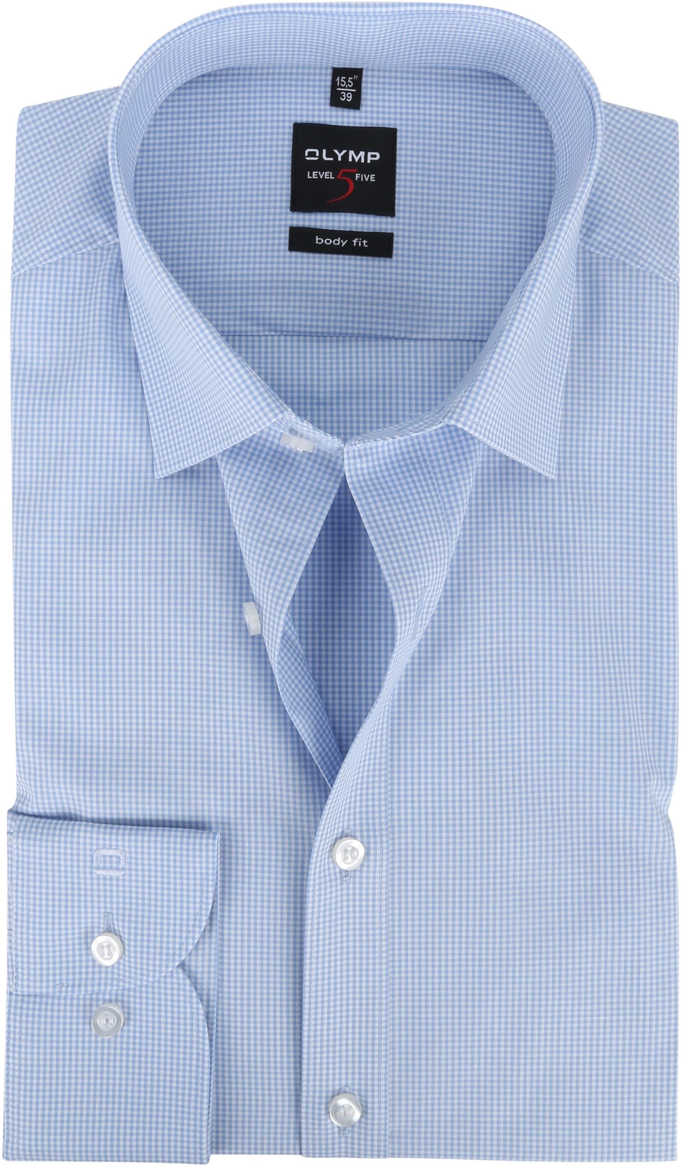 OLYMP Overhemd Level 5 Ruit Blauw