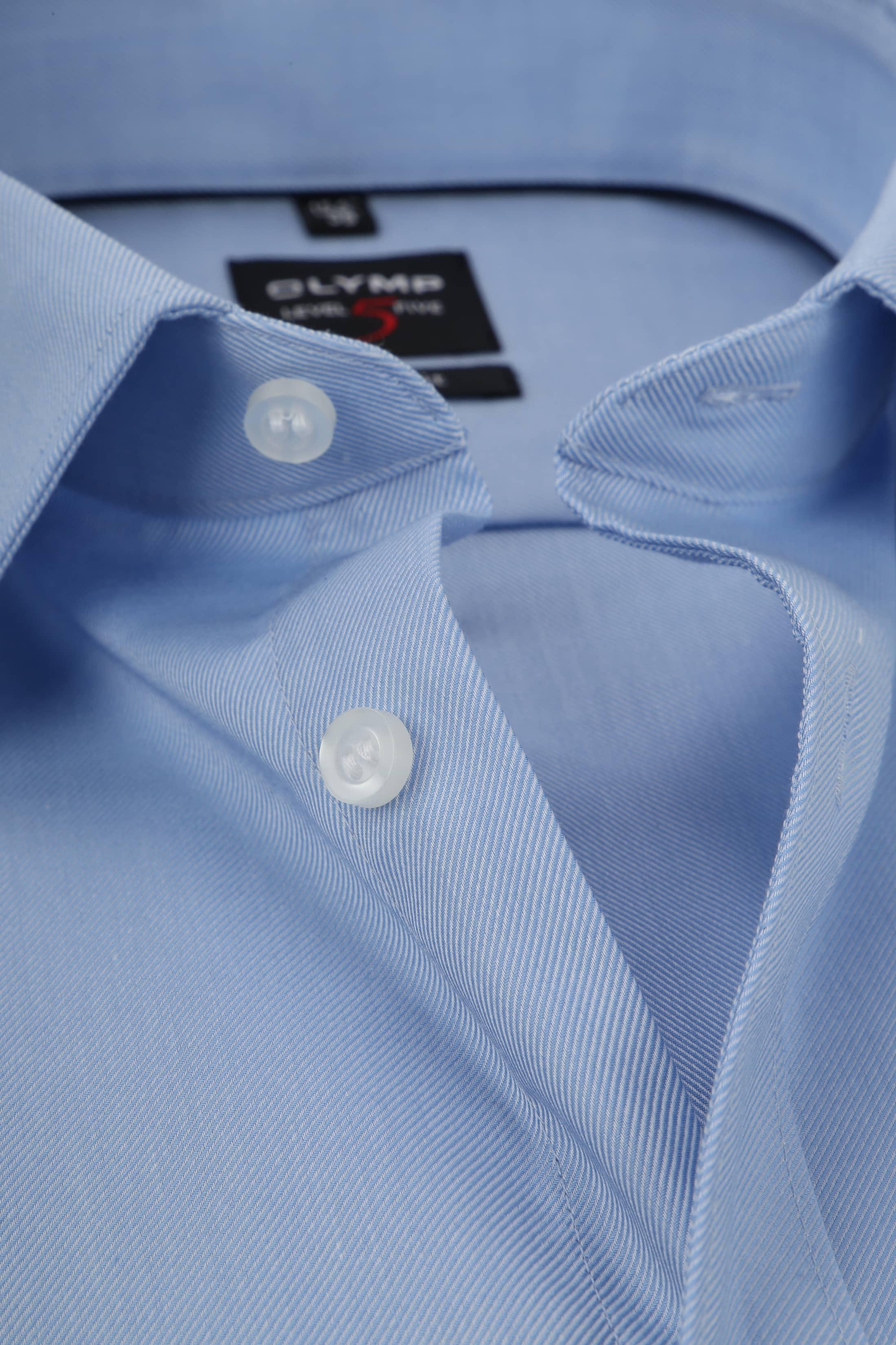 OLYMP Overhemd Level 5 Twill Blauw foto 1