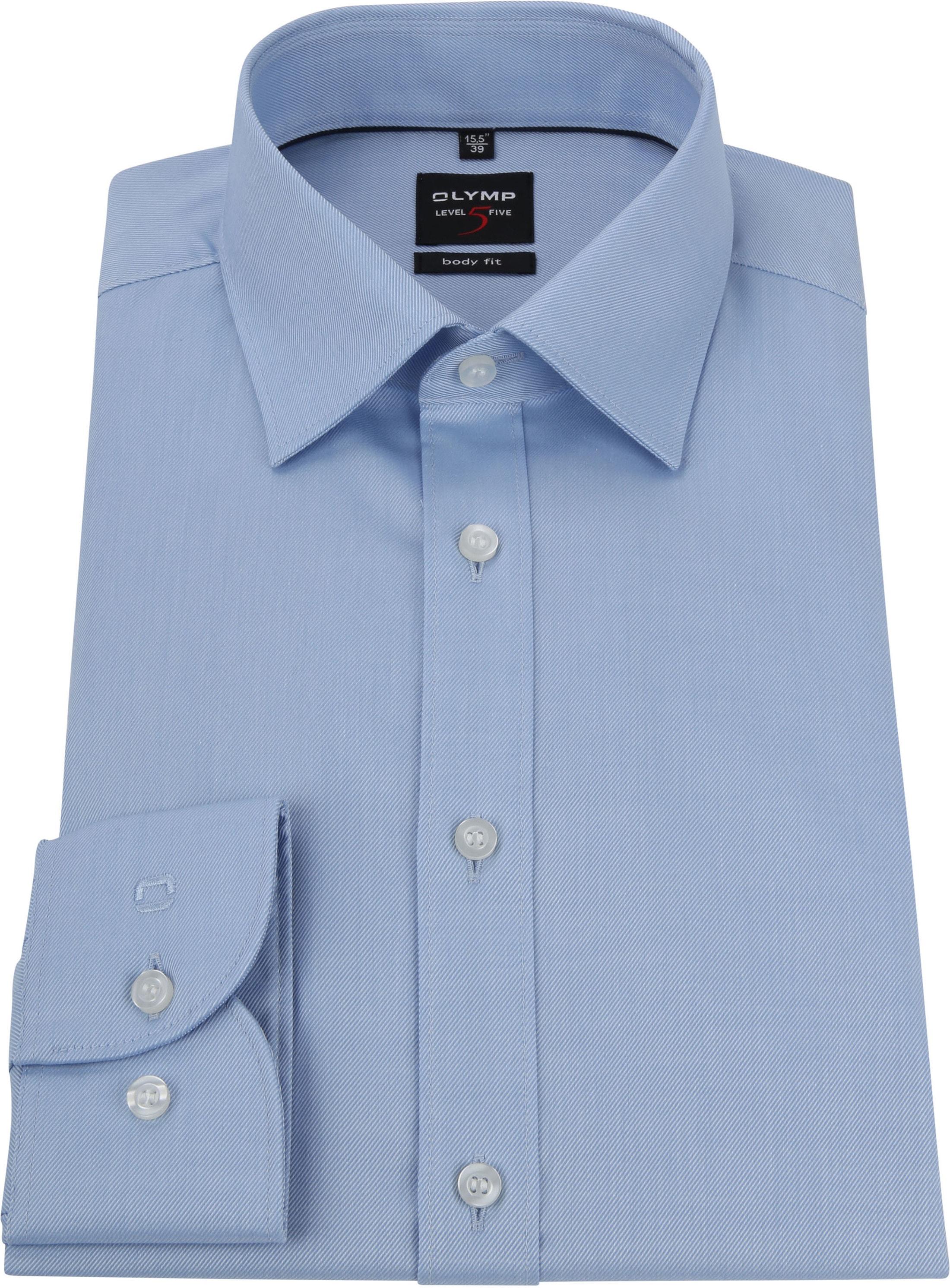 OLYMP Overhemd Level 5 Twill Blauw foto 2