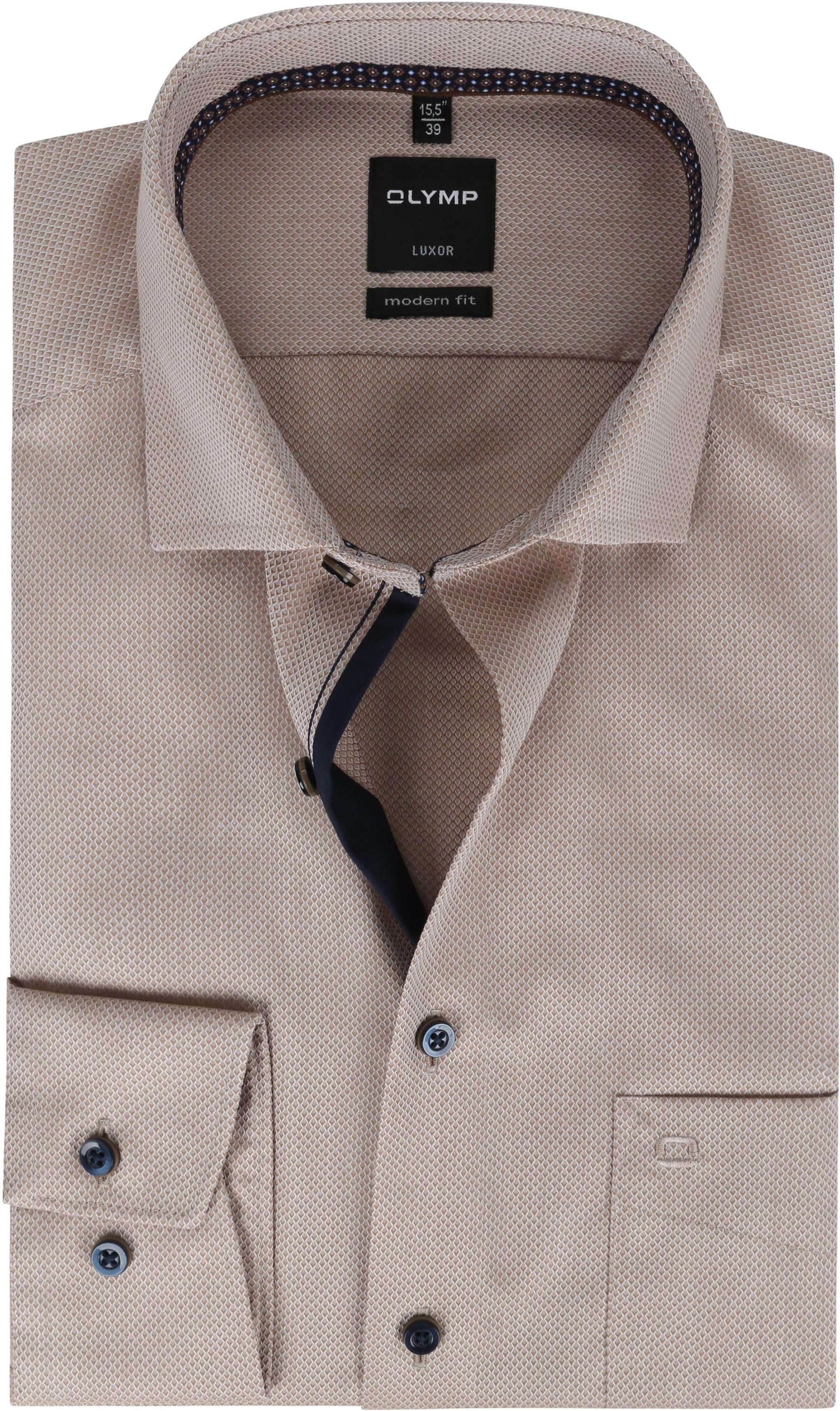 OLYMP Overhemd Luxor MF Pattern Bruin
