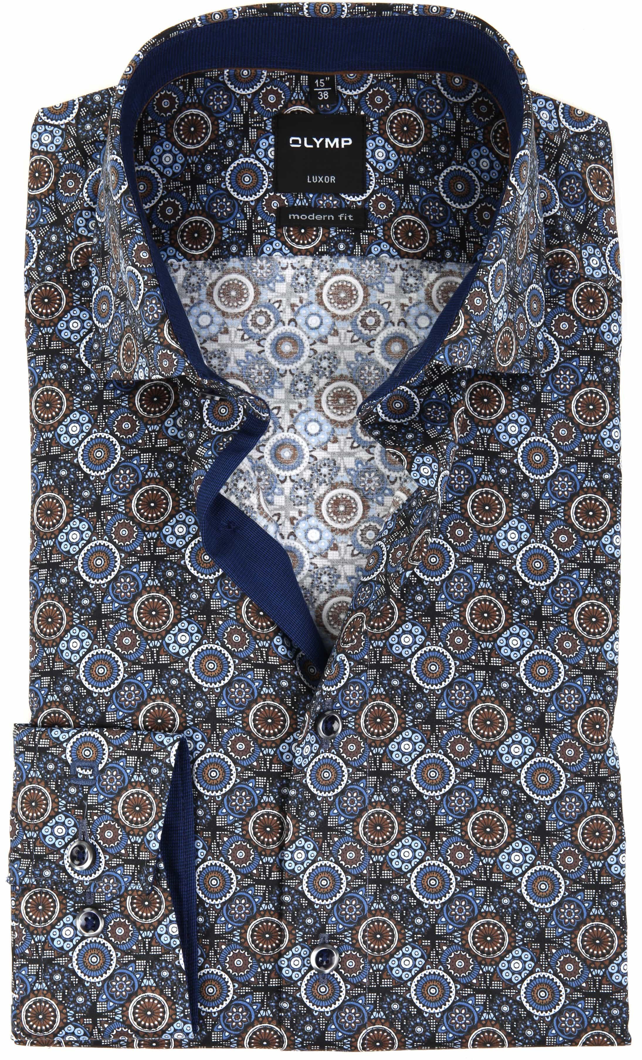OLYMP Overhemd Luxor MF Print foto 0