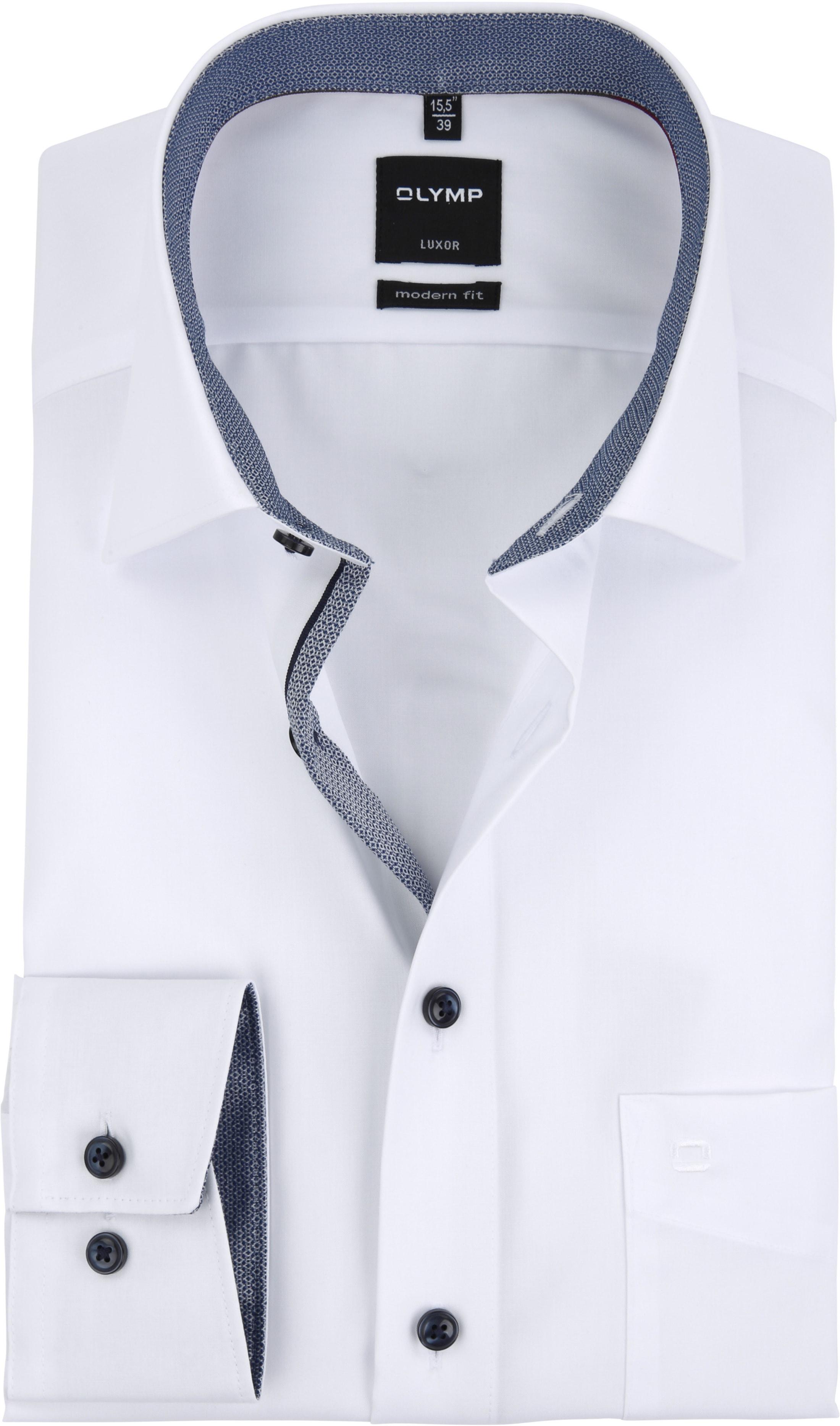 olymp overhemd luxor wit modern fit 057564 online. Black Bedroom Furniture Sets. Home Design Ideas