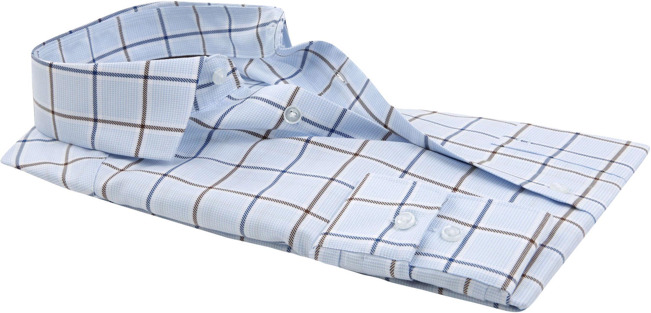 OLYMP Overhemd LuxorMF Ruit Lichtblauw foto 2