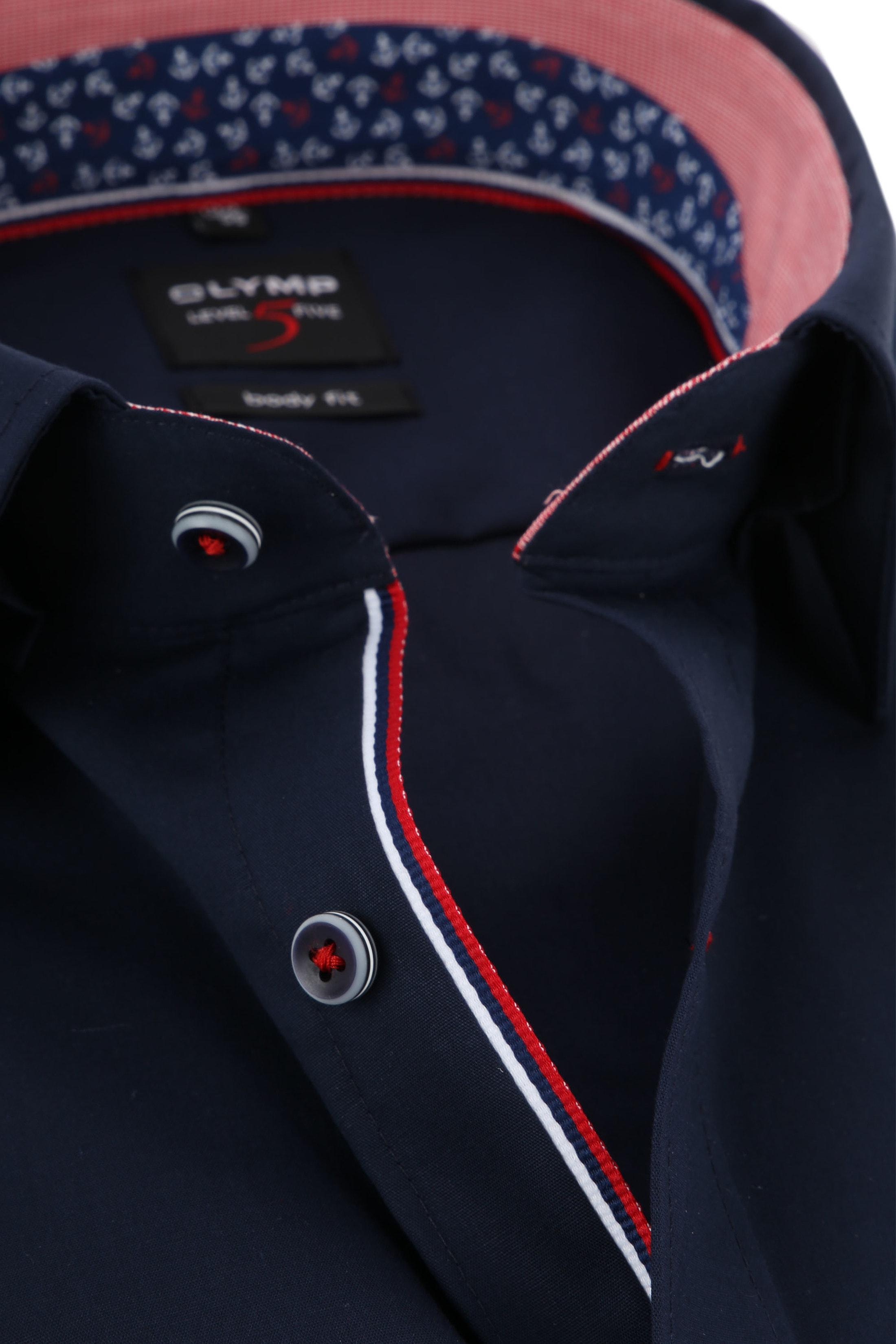 OLYMP Overhemd Navy Level 5  foto 1