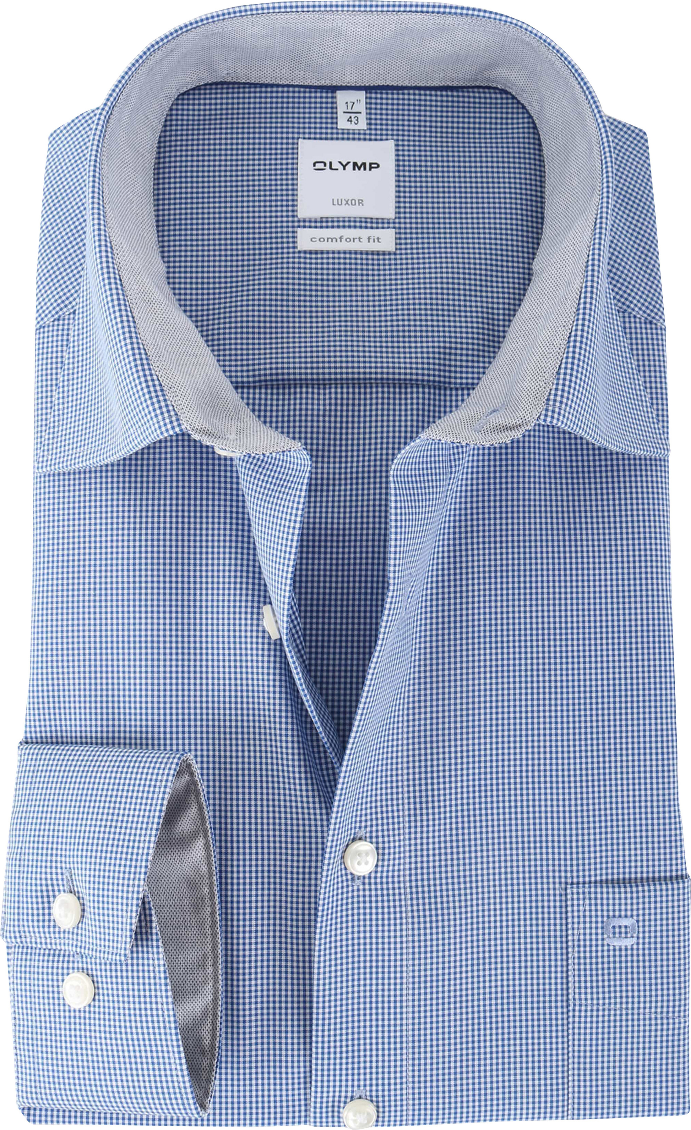 innovative design promo codes ever popular Olymp Shirt Blue Check Comfort Fit 319064