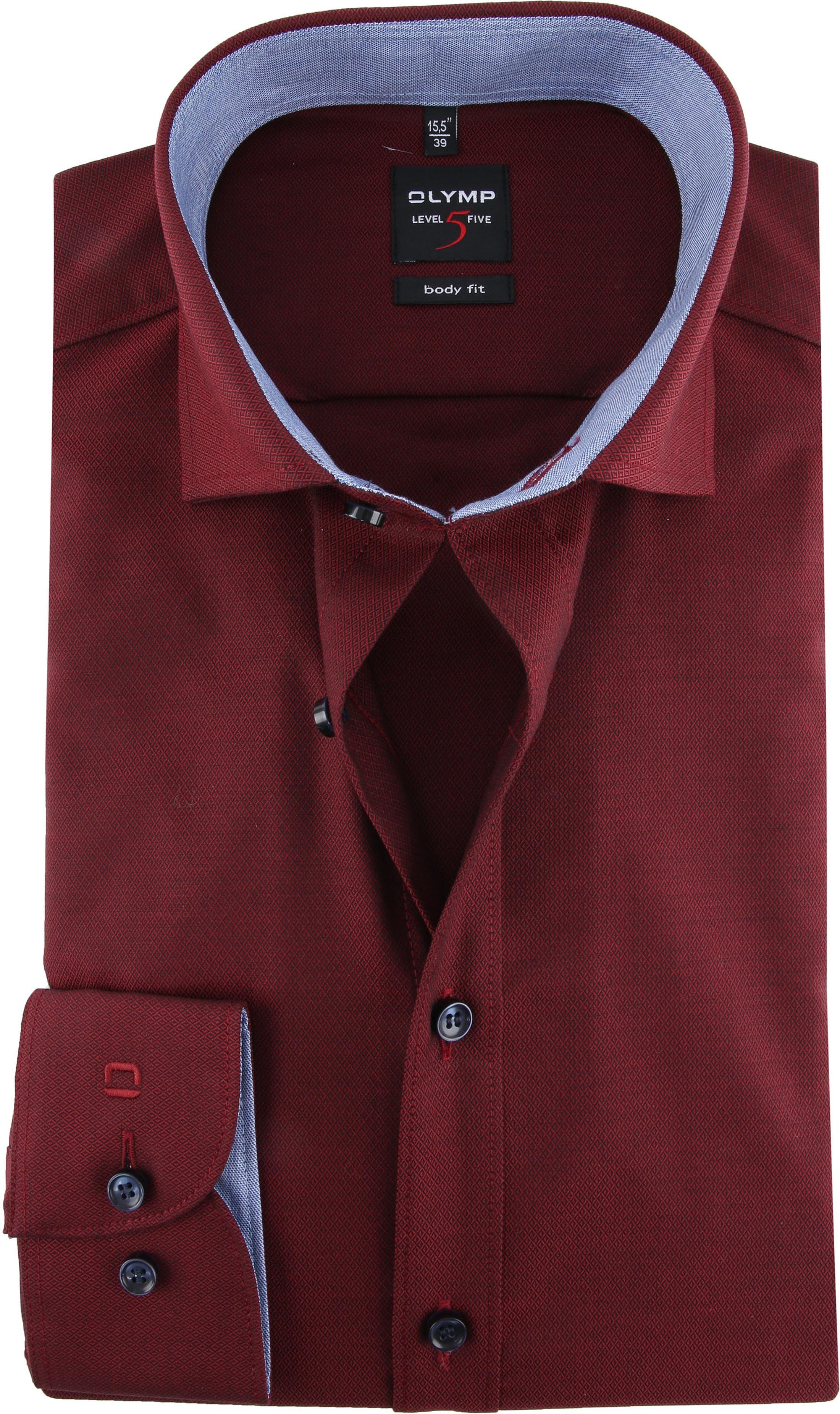 OLYMP Shirt Level 5 Blue Dark Red photo 0
