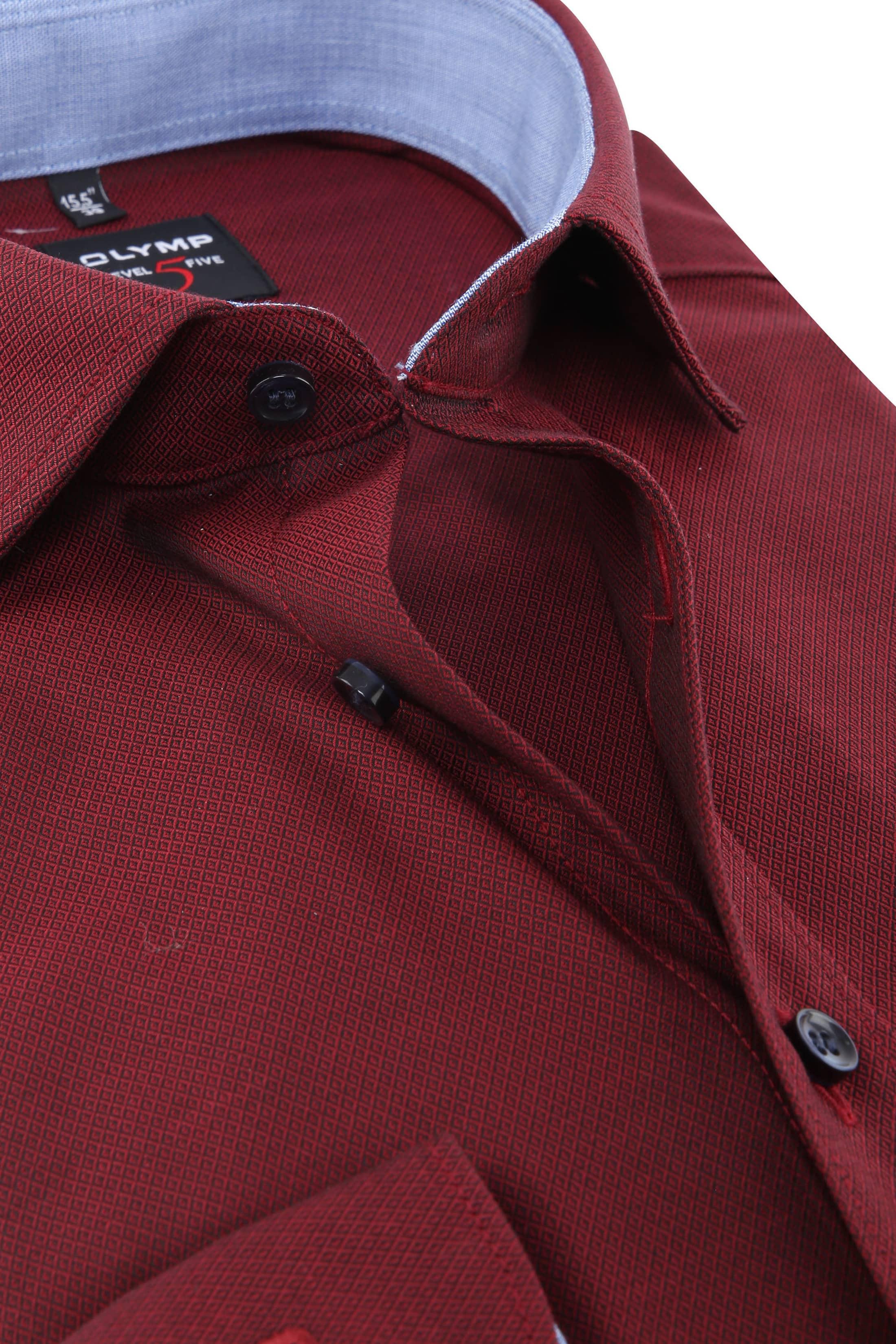 OLYMP Shirt Level 5 Blue Dark Red photo 1