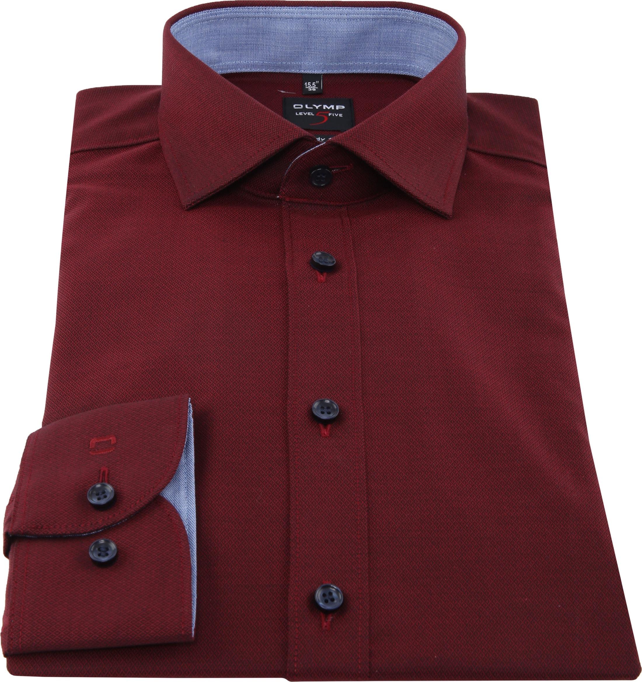 OLYMP Shirt Level 5 Blue Dark Red photo 2