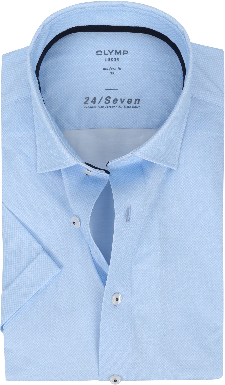 OLYMP SS Overhemd Luxor 24/Seven MF Blauw