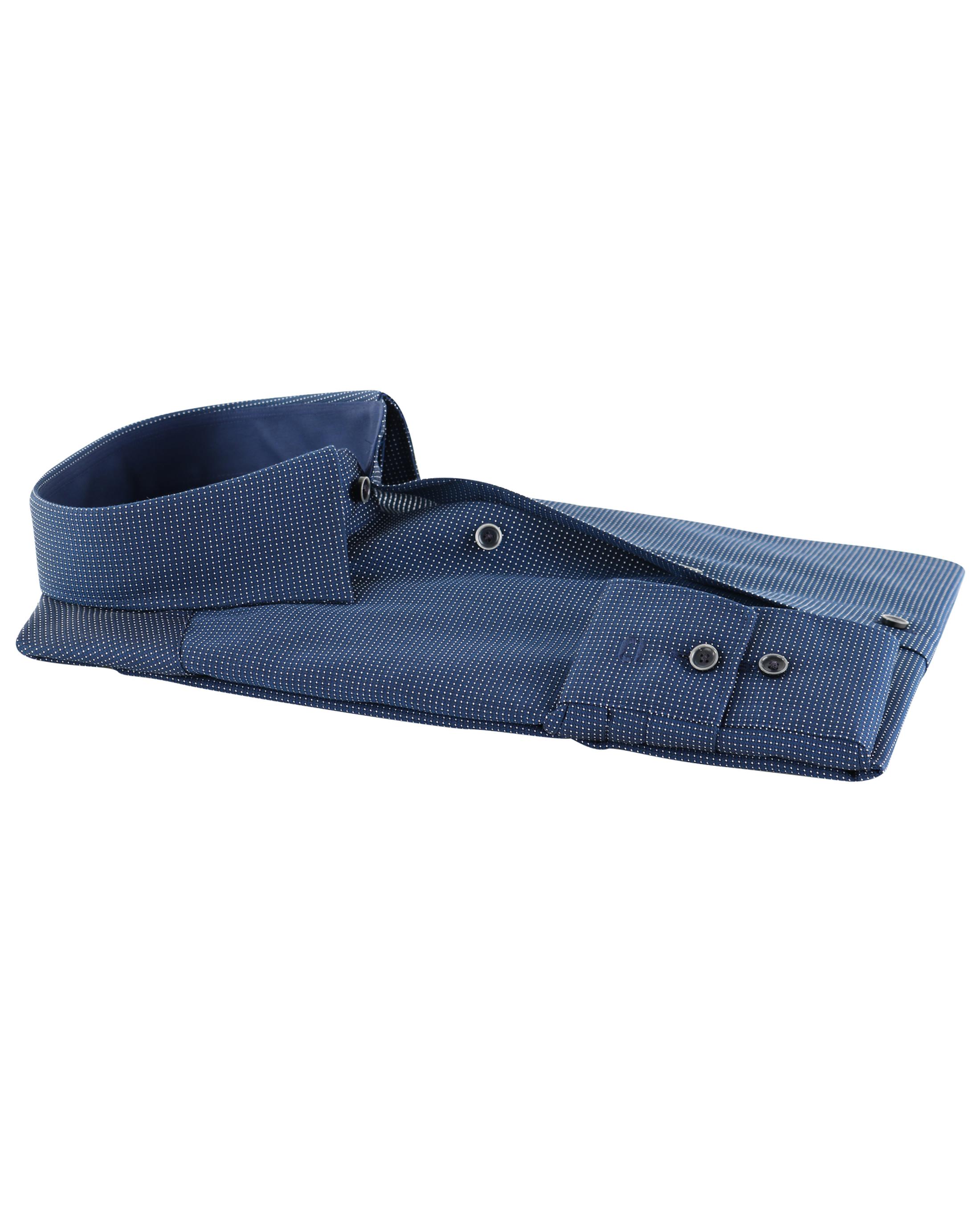 OLYMP Strijkvrij Comfort Fit Overhemd Pinpoint Blauw foto 2