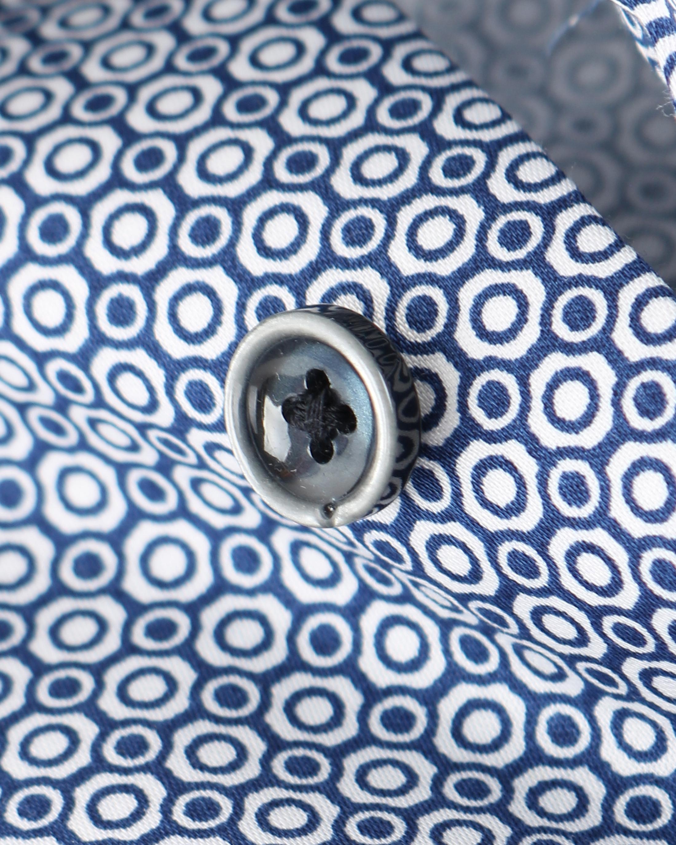 OLYMP Strijkvrij Overhemd Donkerblauw Print foto 3