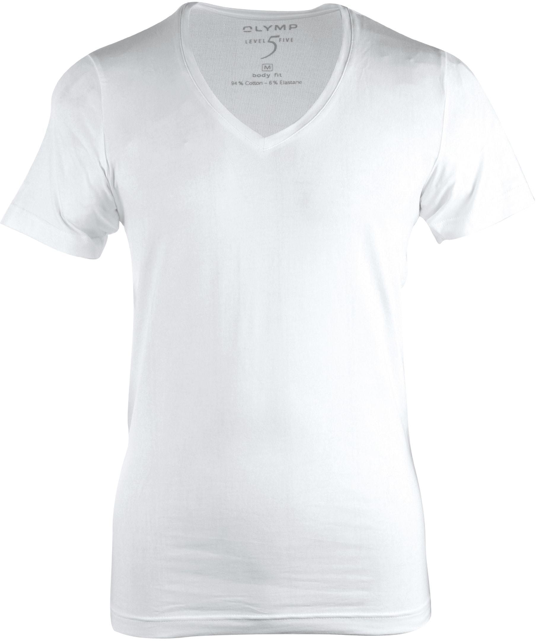OLYMP T-Shirt Diepe V-Hals Stretch foto 0