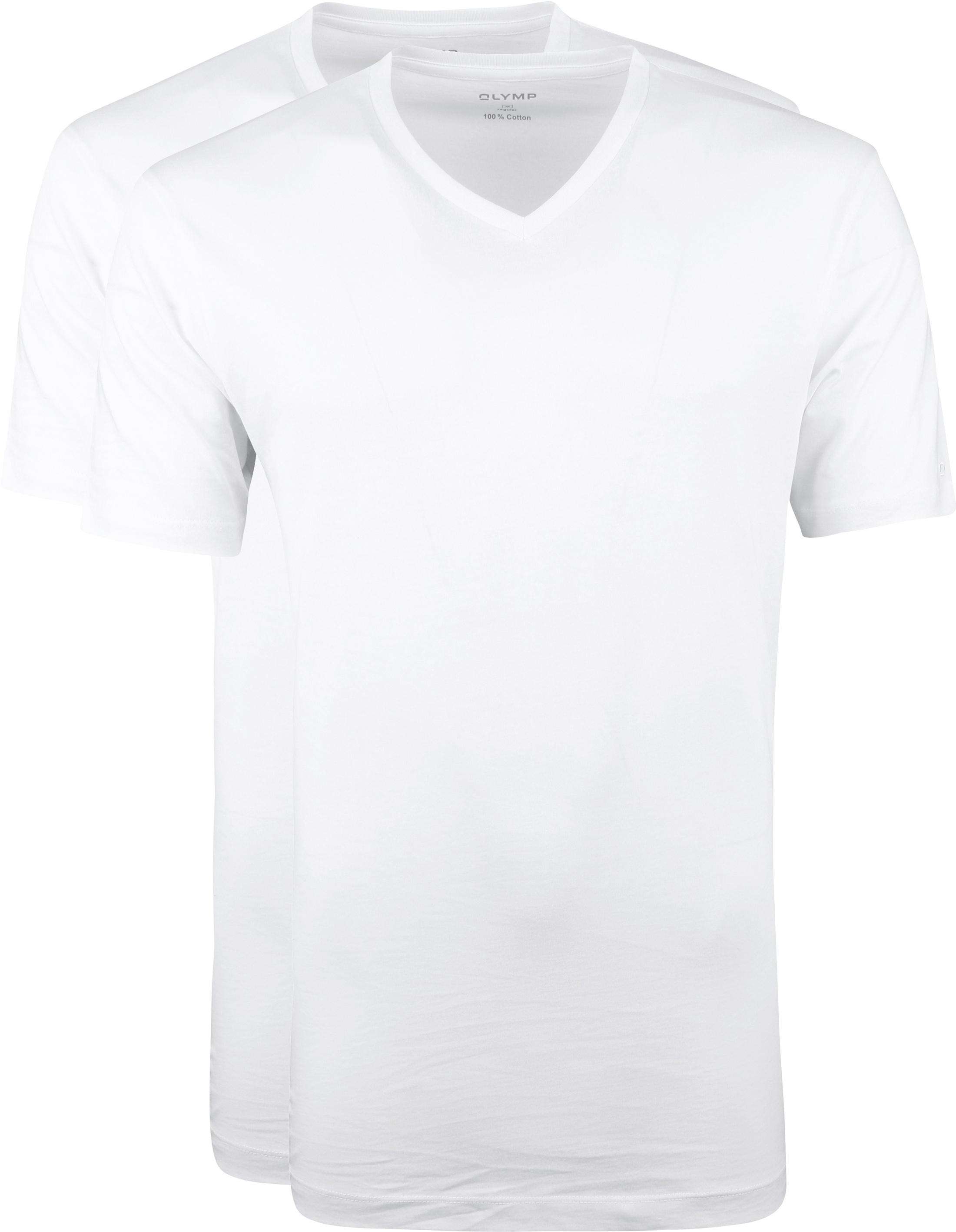OLYMP T-Shirt Regular Fit V-Hals 2Pack