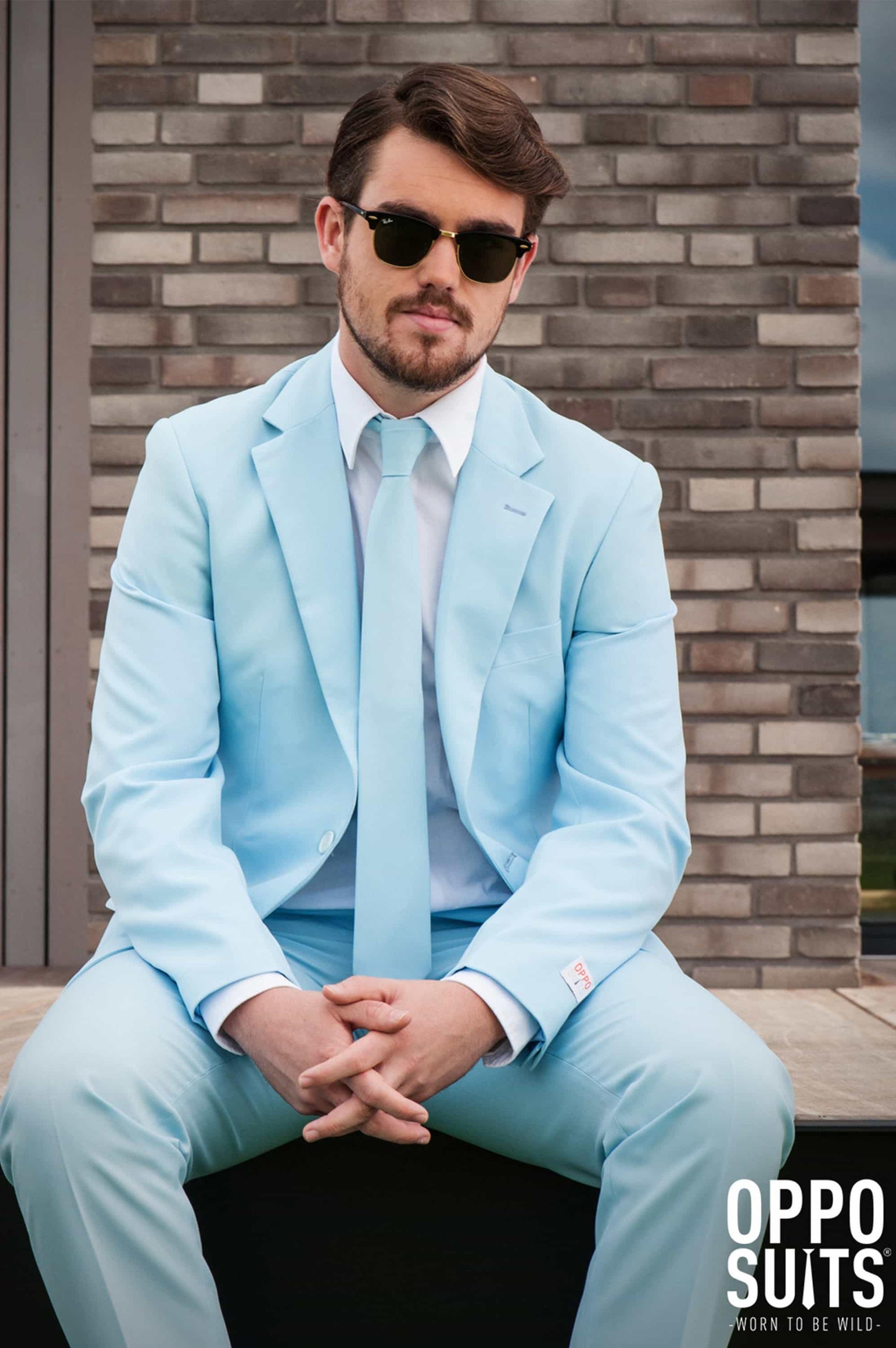 OppoSuits Cool Blue Kostuum foto 2