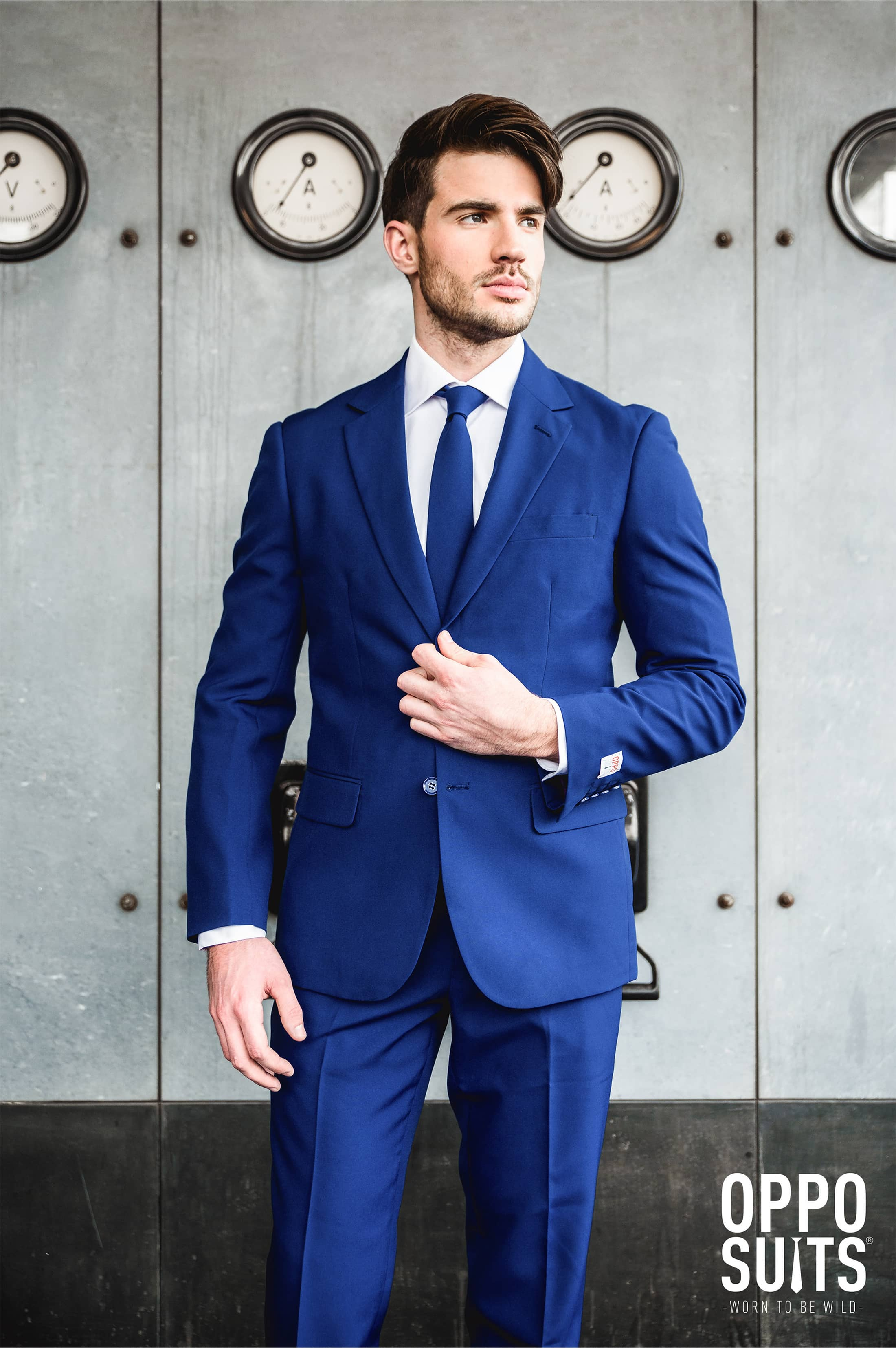 OppoSuits Navy Royale Anzug foto 2