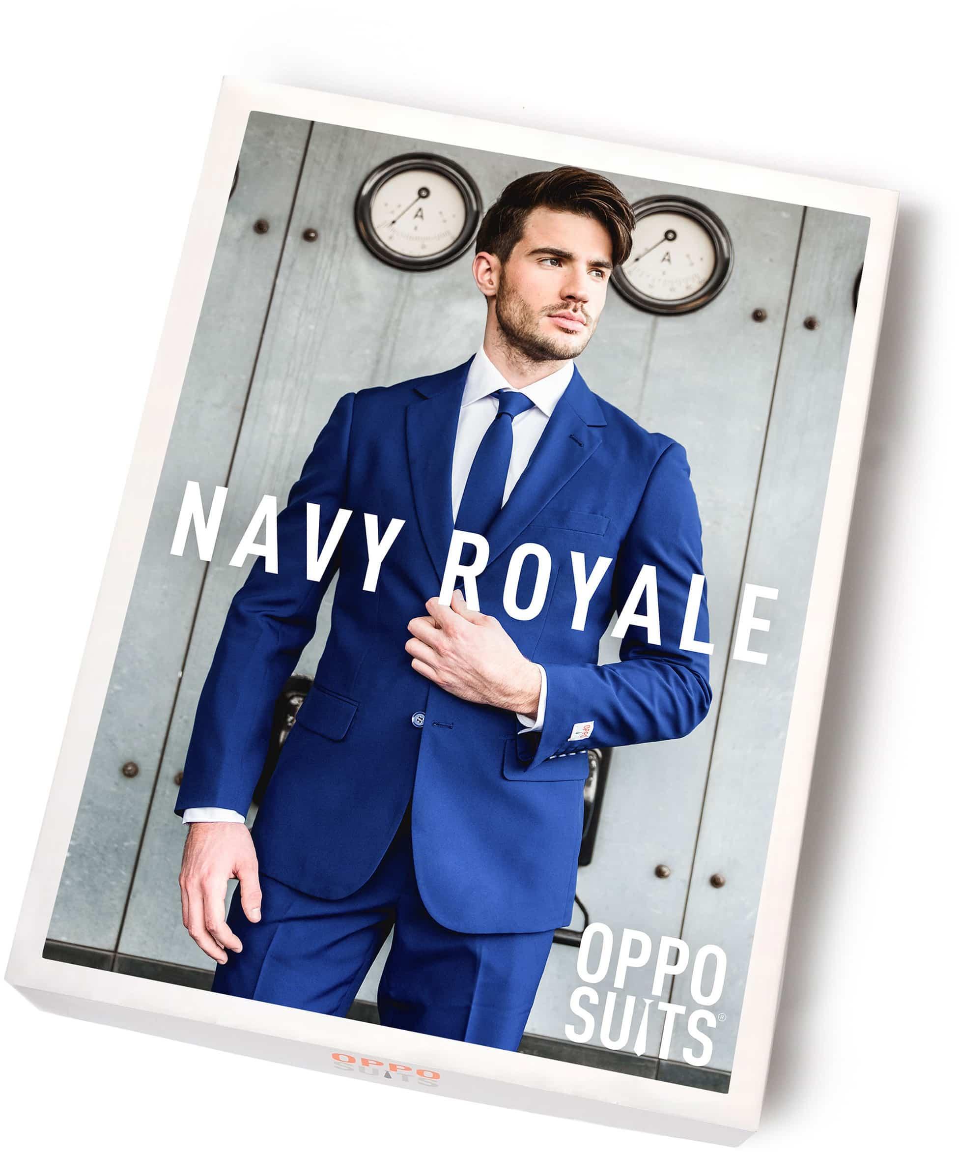 OppoSuits Navy Royale Kostuum foto 5