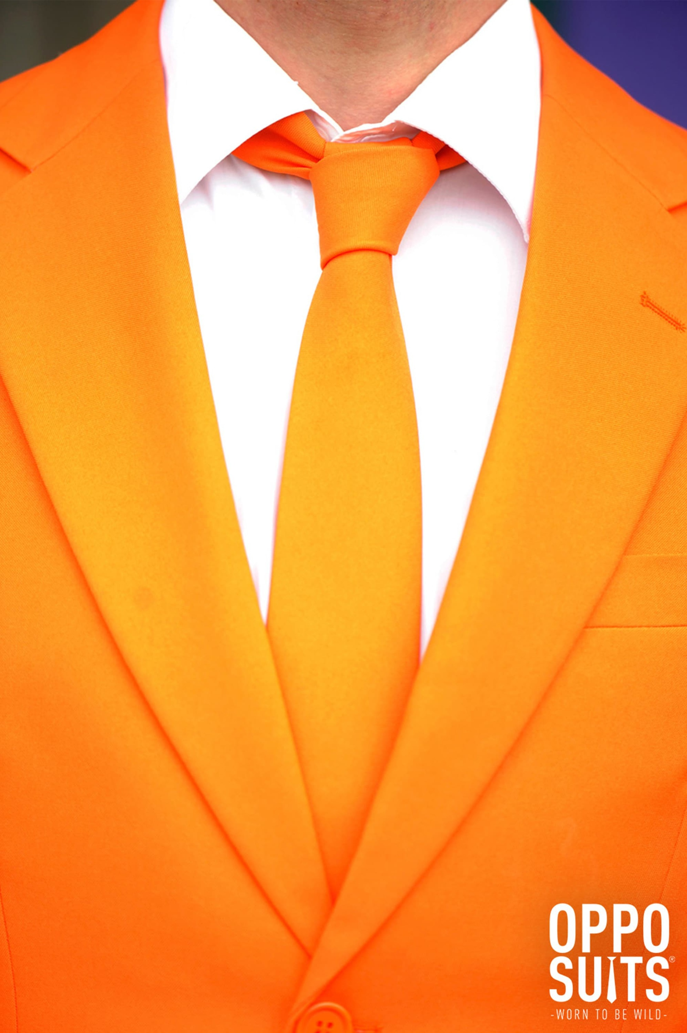 OppoSuits Oranje Kostuum foto 3
