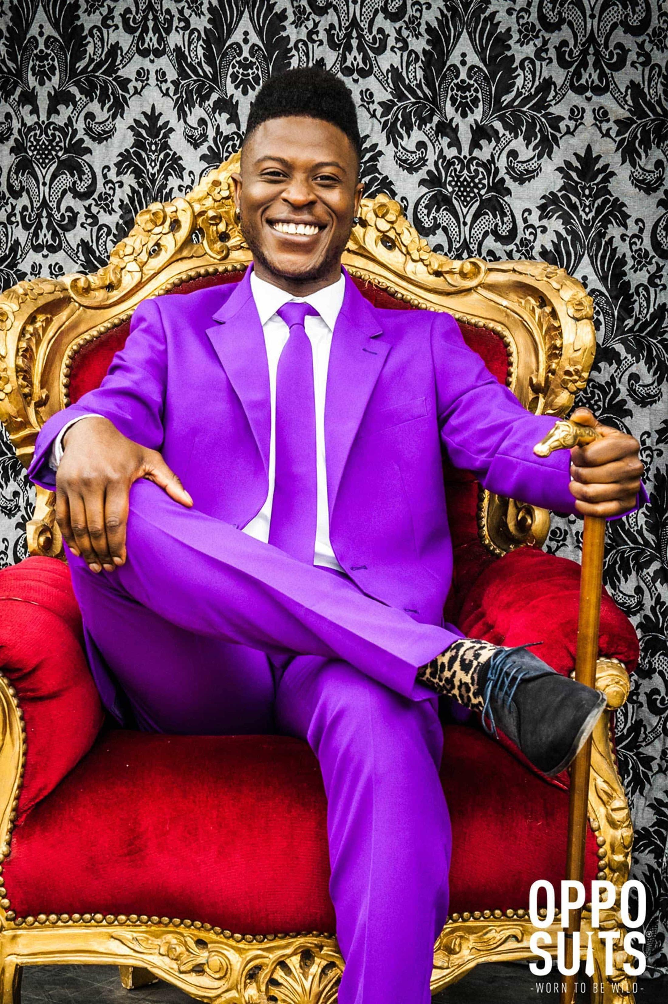 OppoSuits Purple Prince Kostuum foto 2