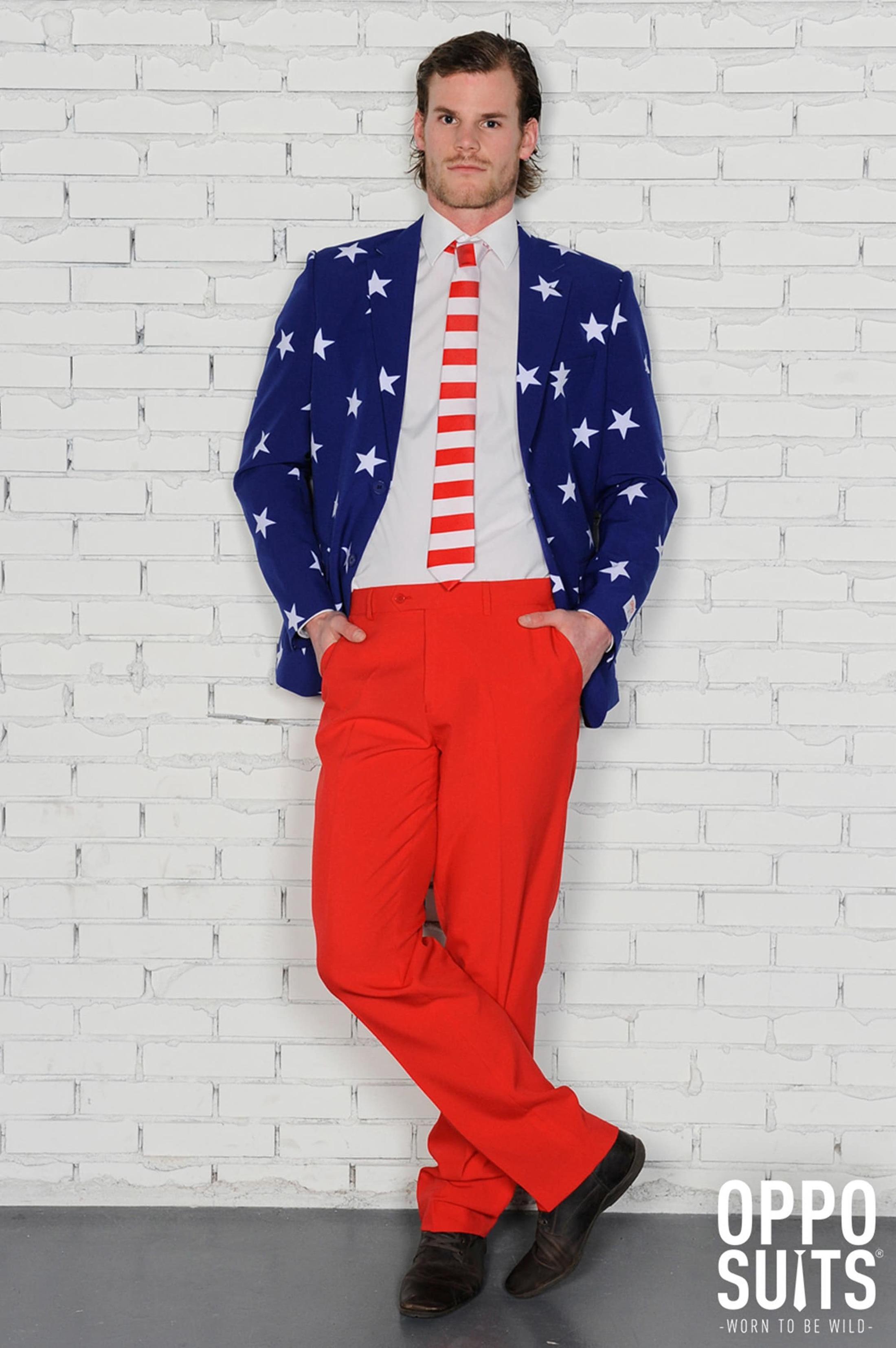 OppoSuits Stars and Stripes Kostuum foto 4