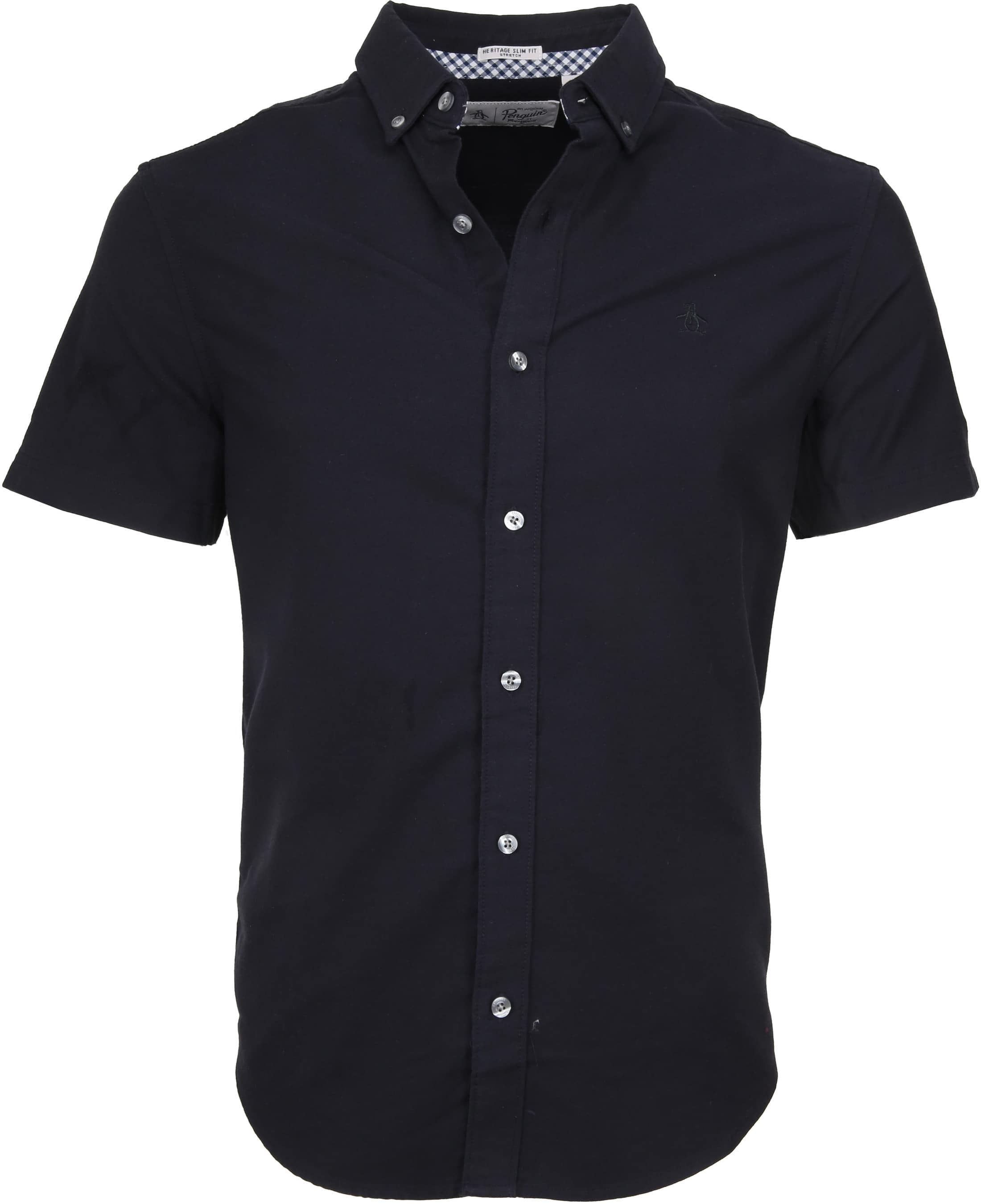 Original Penguin Oxford Overhemd SS Navy foto 0