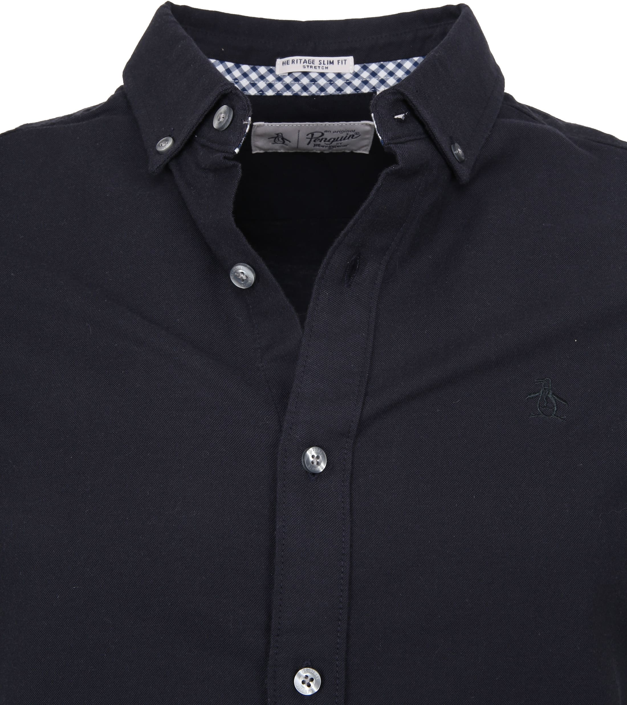 Original Penguin Oxford Overhemd SS Navy foto 1