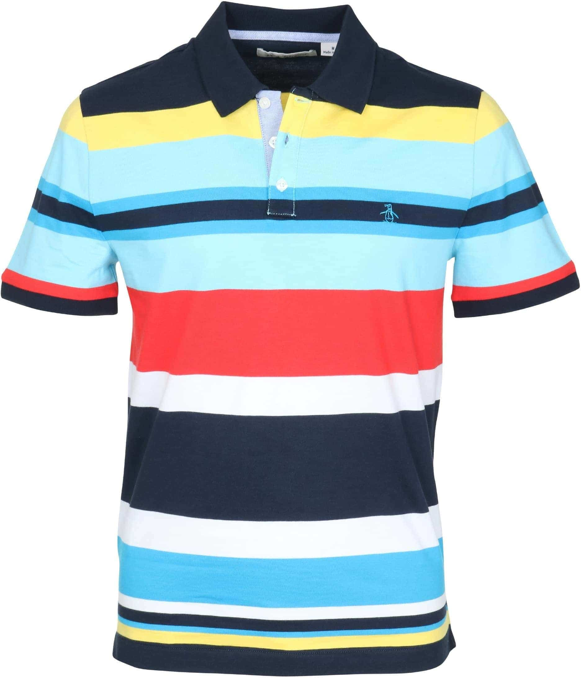 Original Penguin Polo Colour Stripes Opks8016 413 Engin Stripe