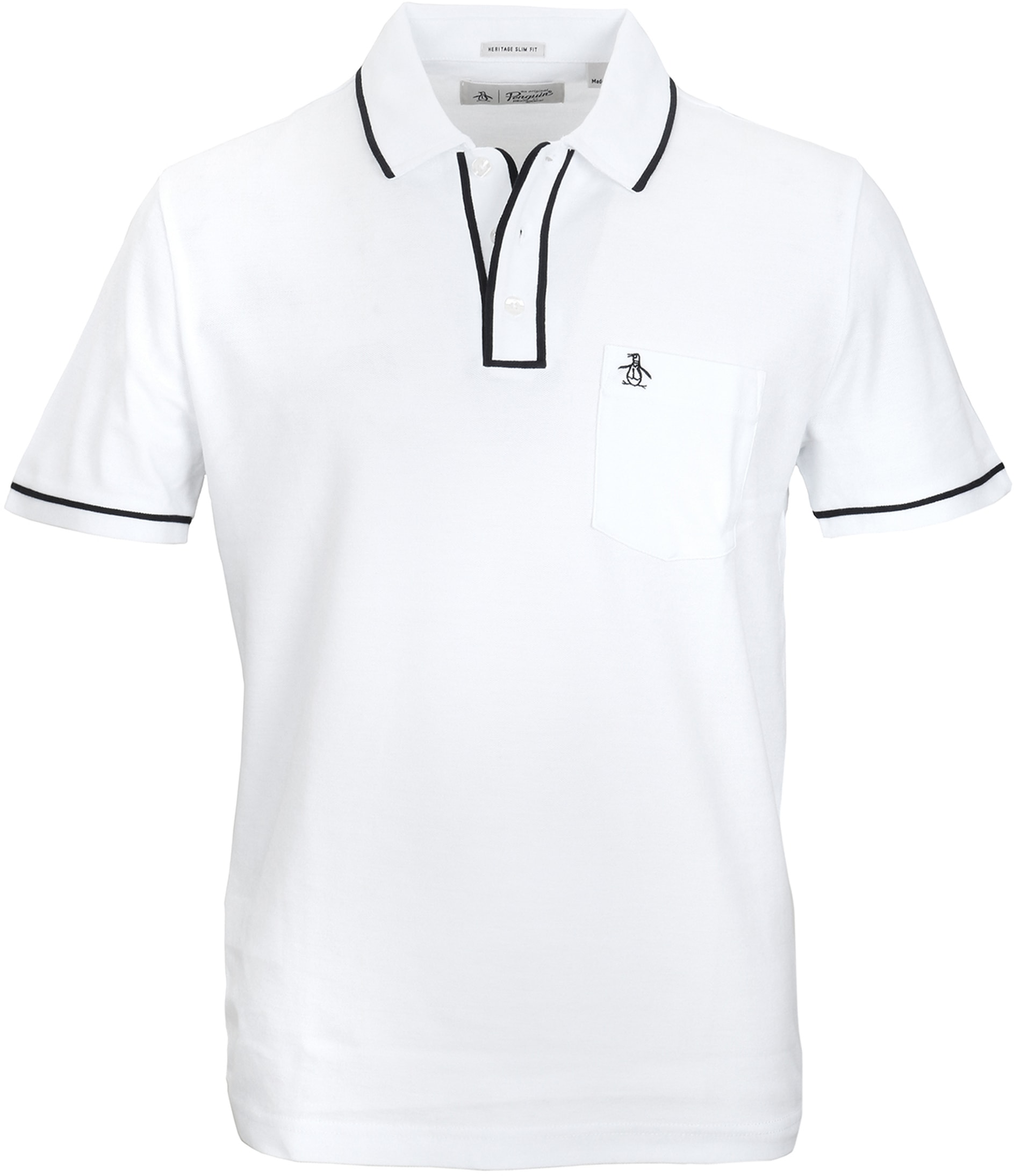 Original Penguin Polo Earl Wit foto 0