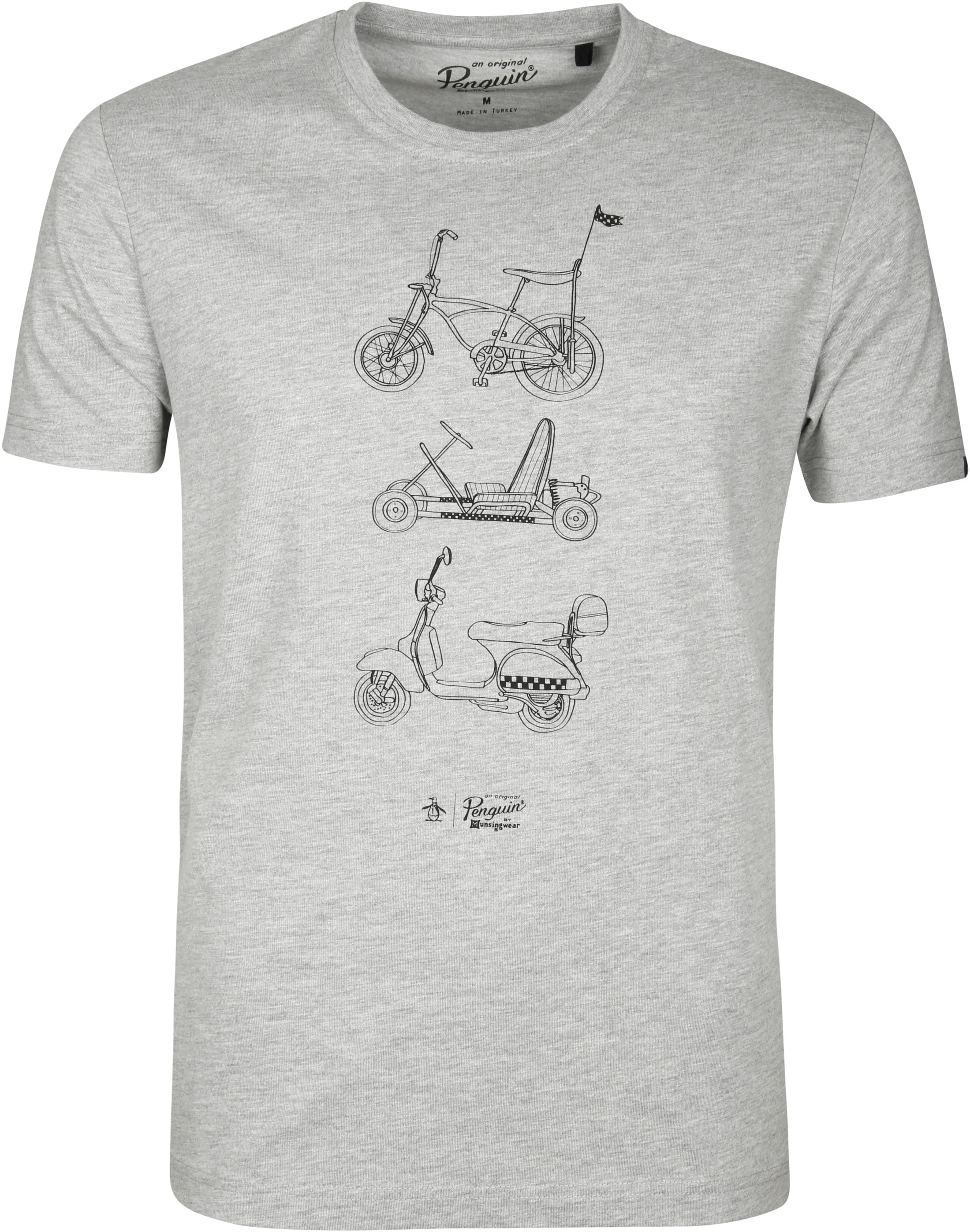 Original Penguin T Shirt Print Grey Opkf8419 080 Order Online Suitable