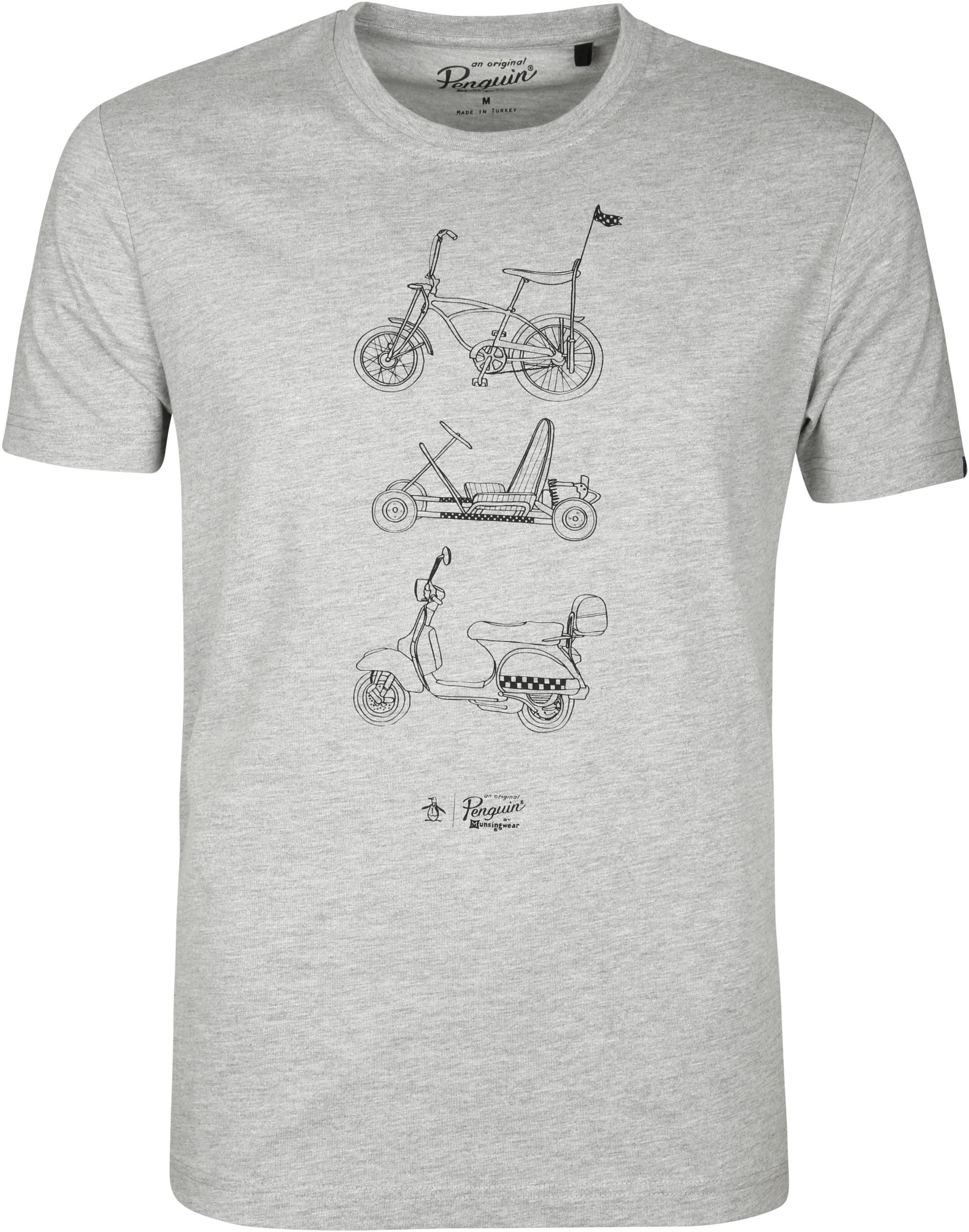 Original Penguin T-shirt Print Grijs foto 0