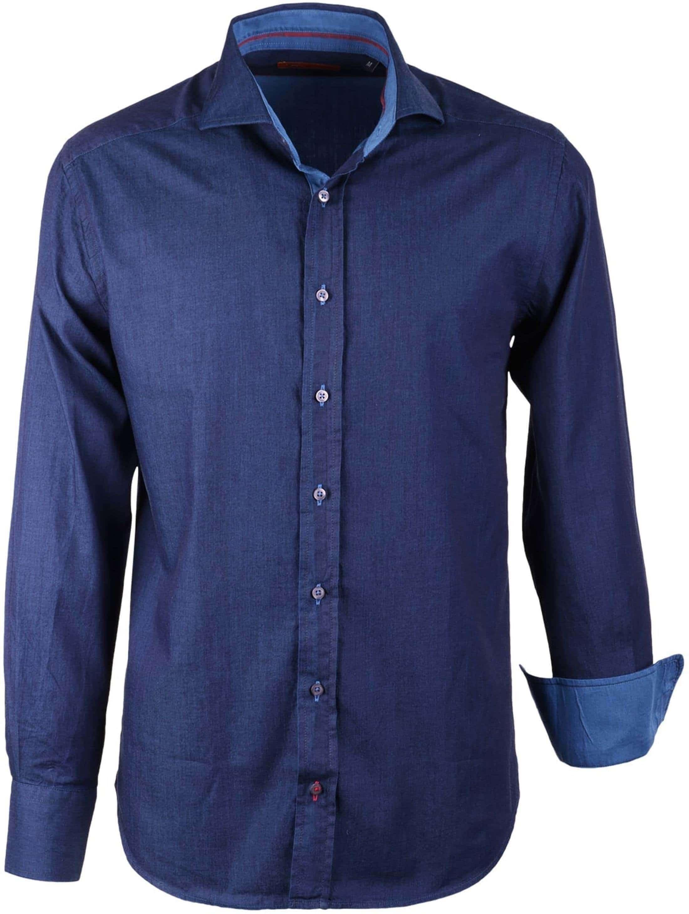 c972da51645984 tapijt bruin vintage Overhemd Blauw Slim Fit foto 0