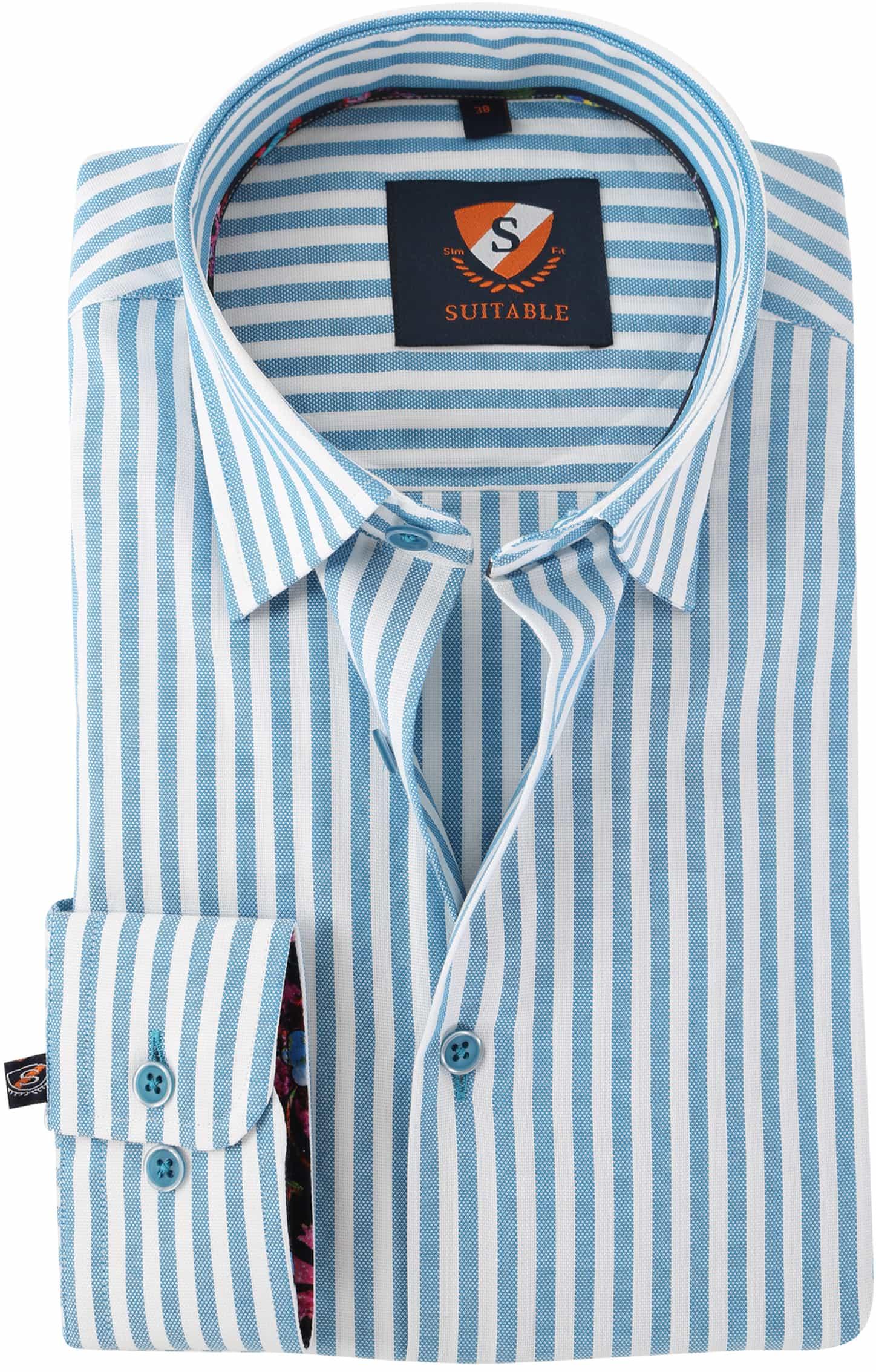 Overhemd Blauw Streep 154-4 foto 0