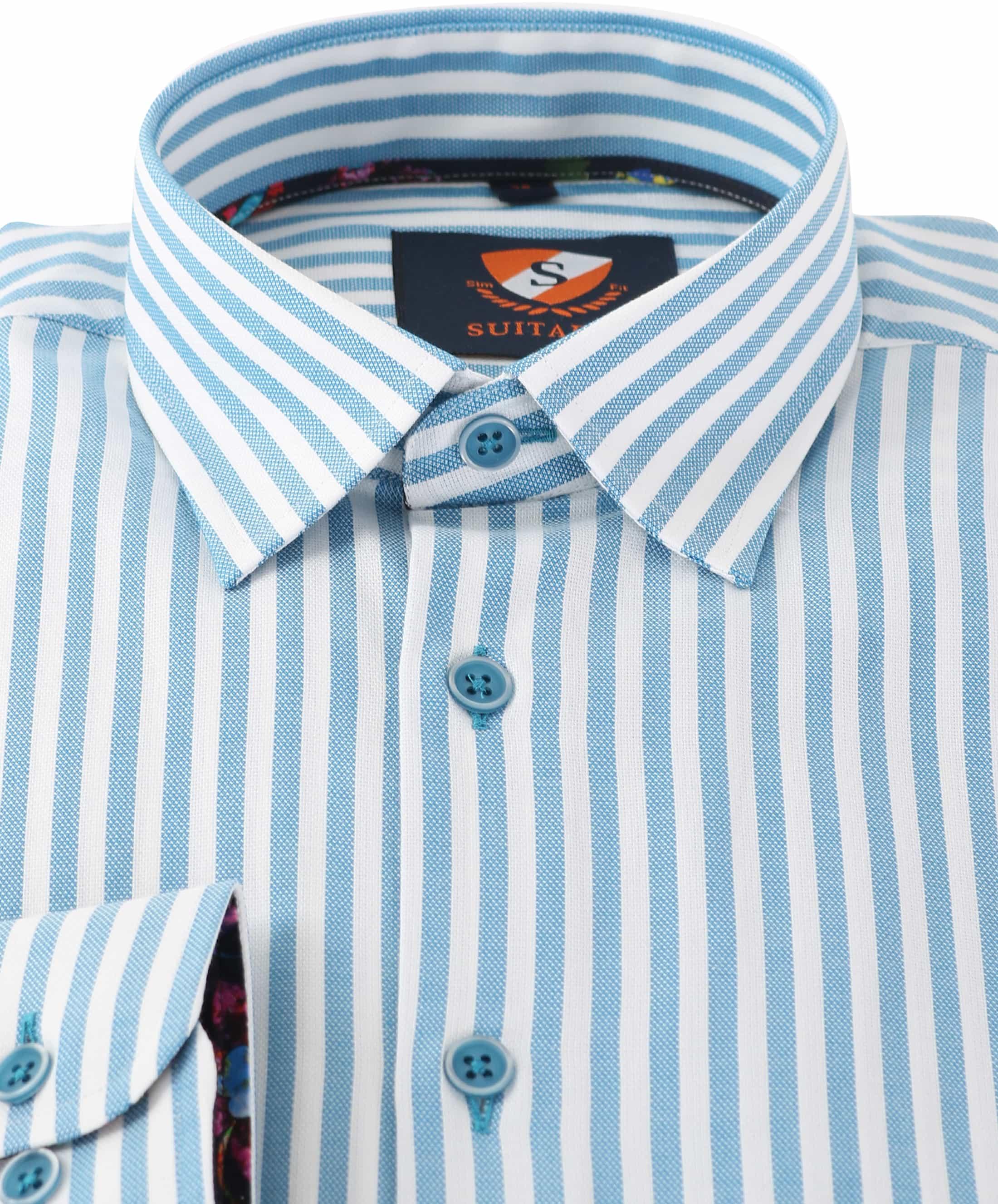 Overhemd Blauw Streep 154-4 foto 1