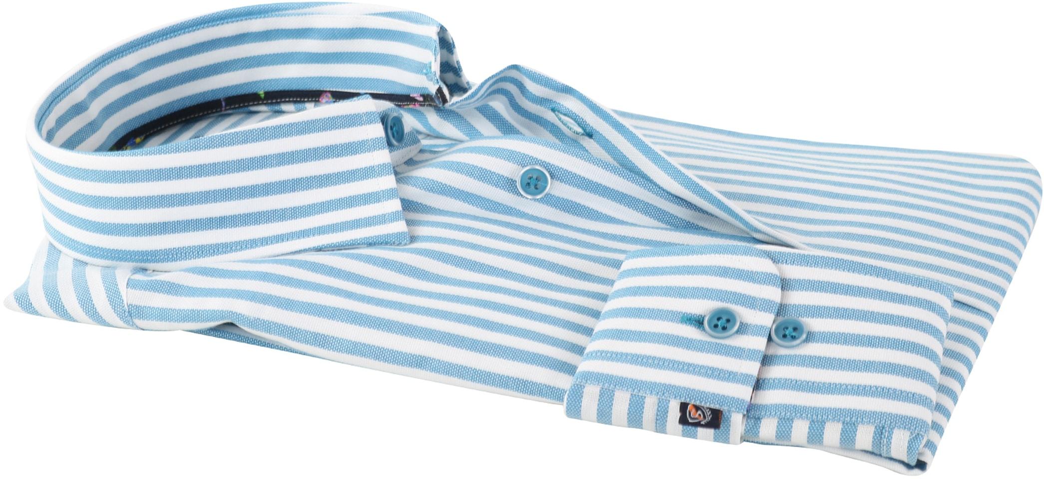 Overhemd Blauw Streep 154-4 foto 2
