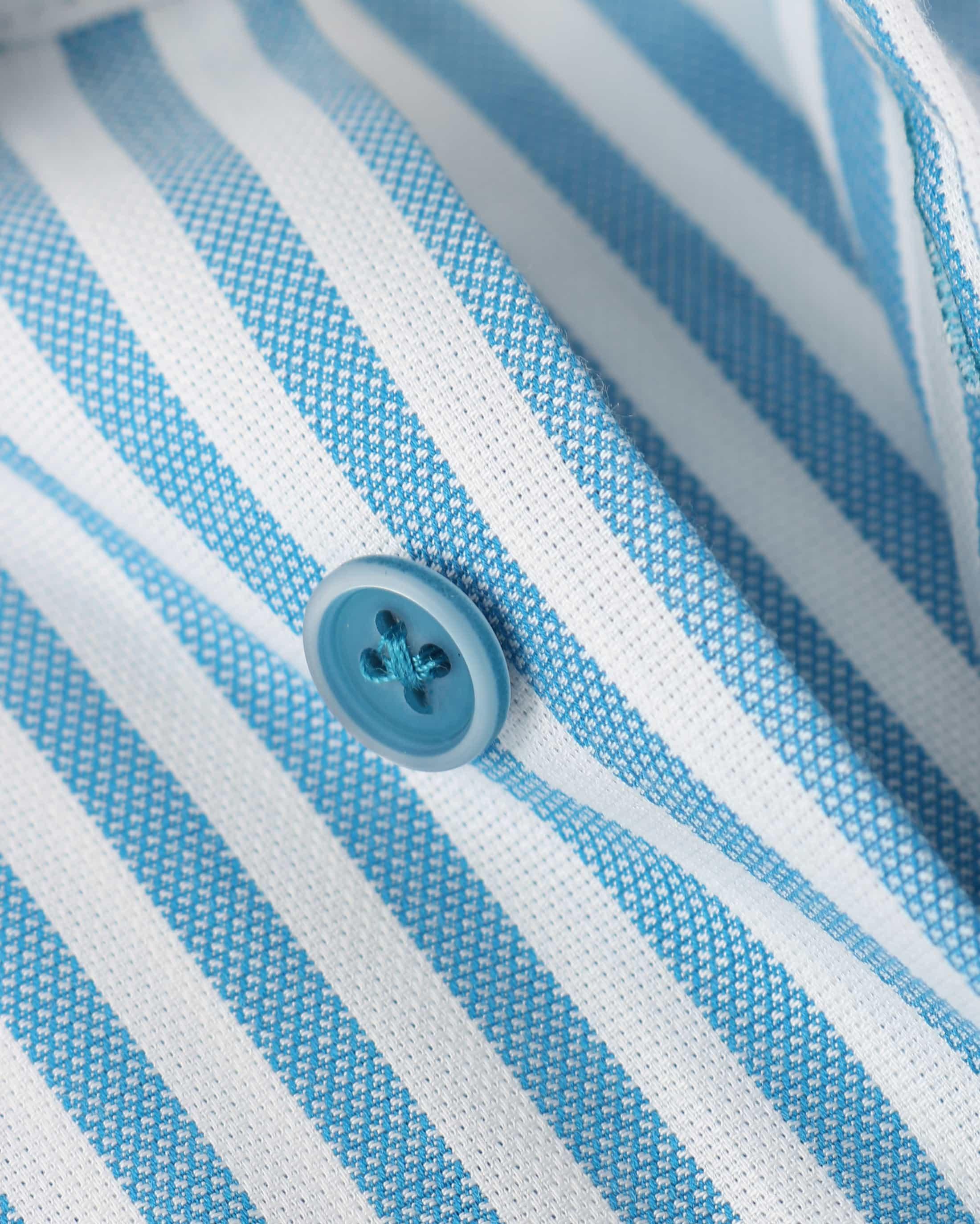 Overhemd Blauw Streep 154-4 foto 3