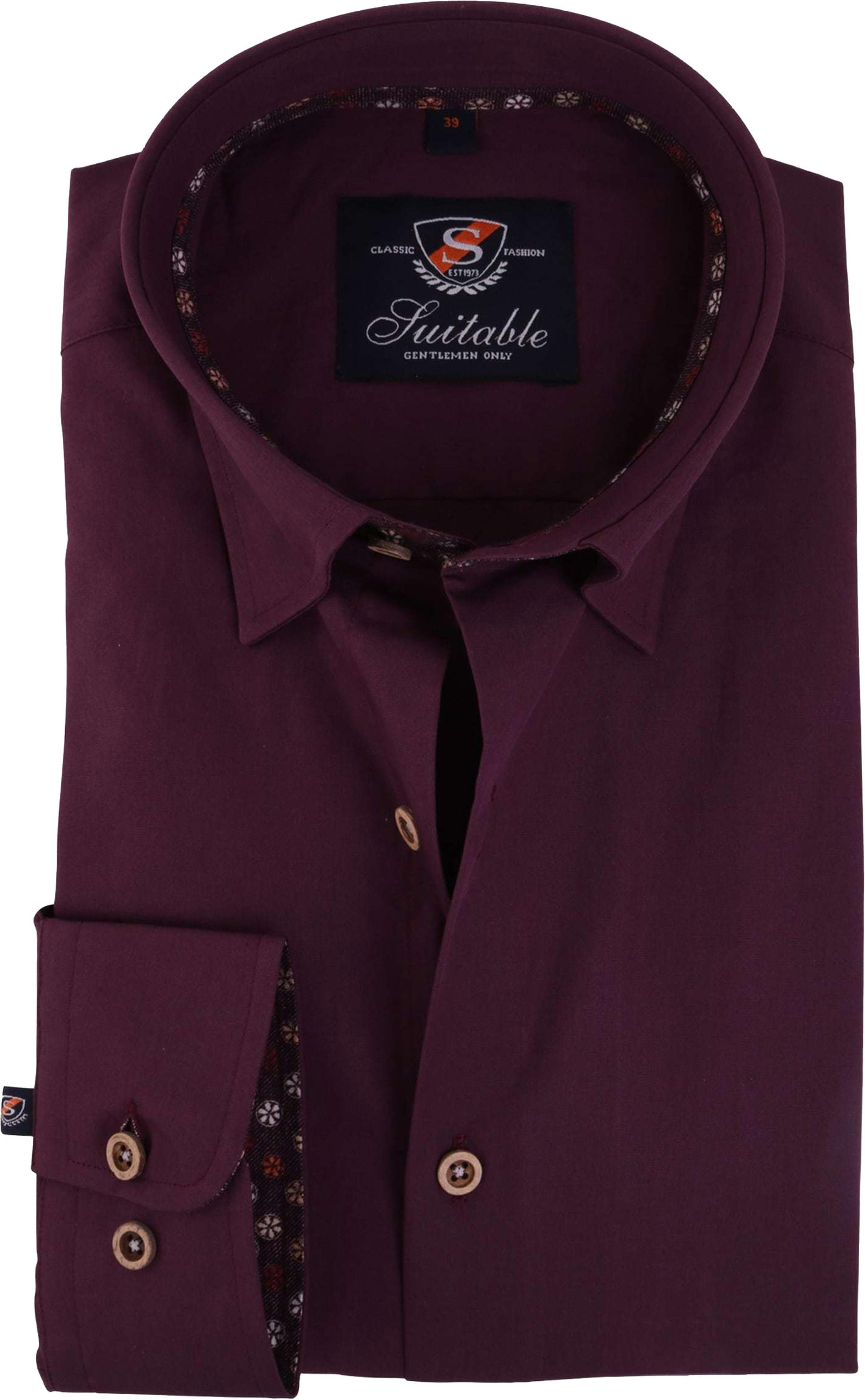 Bordeaux Overhemd.Overhemd Bordeaux 117 5 117 5 Hbd Bordo Shinny