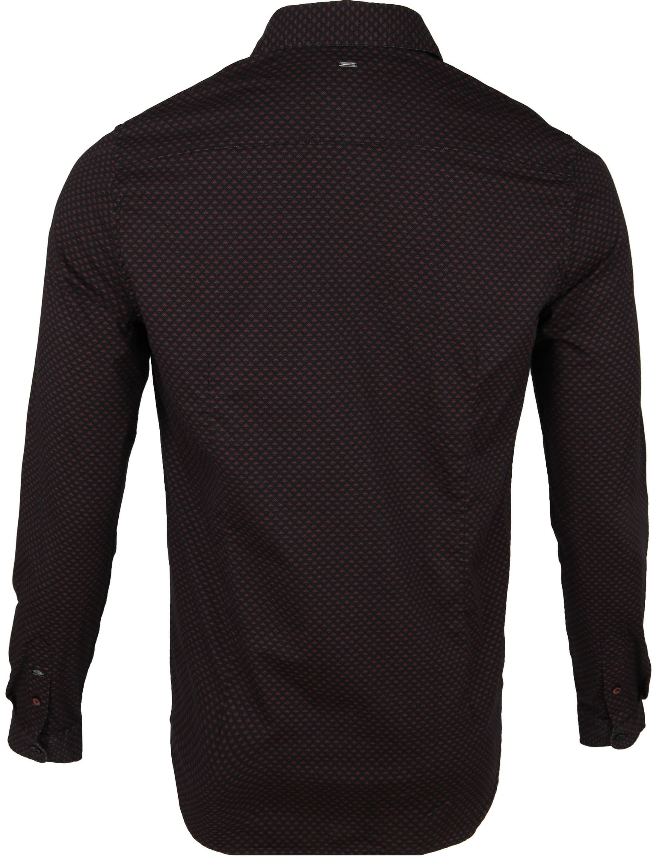 Petrol Overhemd Moderne Ruit Bruin