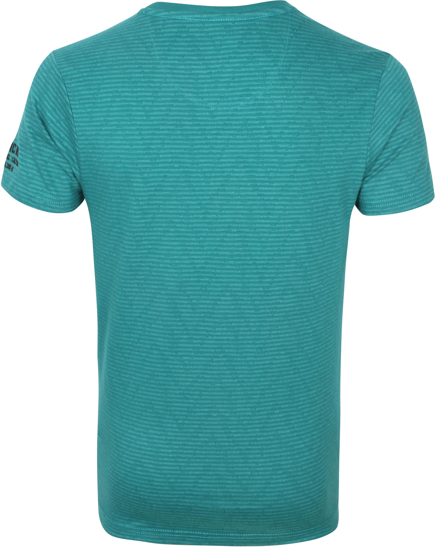 Petrol T-Shirt Strepen Groen