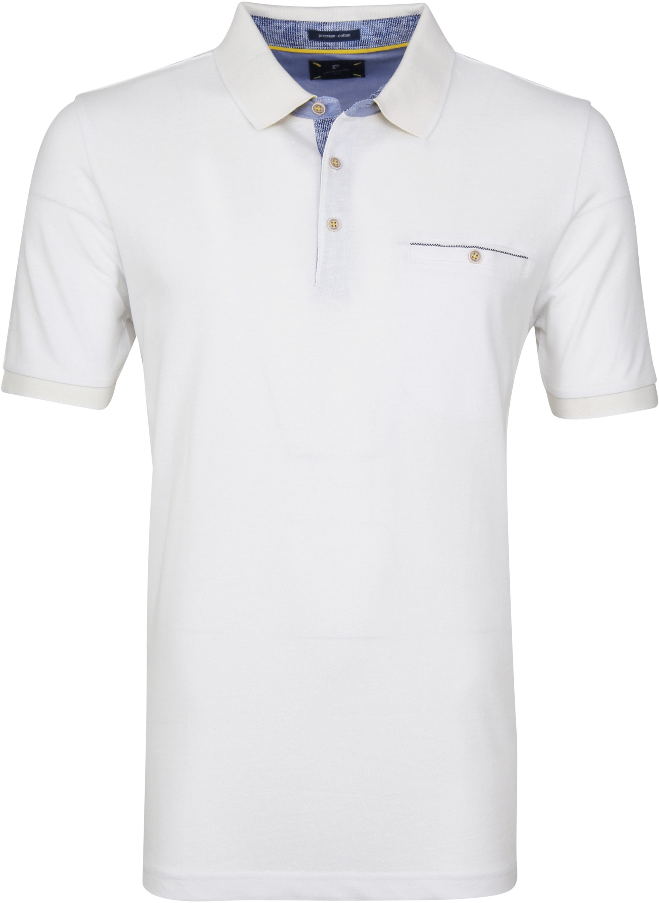 Pierre Cardin Polo Airtouch Wit foto 0