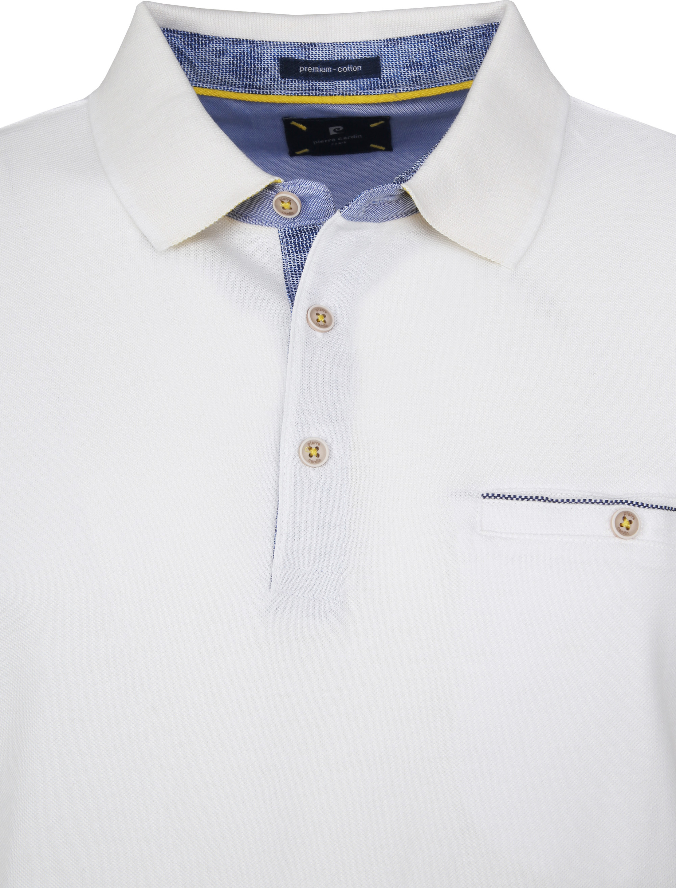 Pierre Cardin Polo Airtouch Wit foto 1