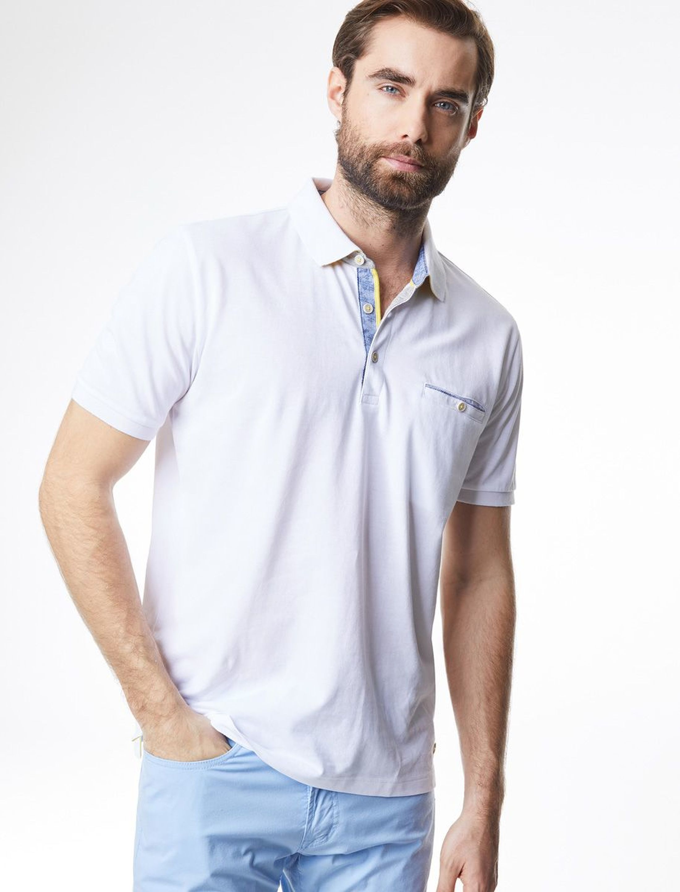 Pierre Cardin Polo Airtouch Wit foto 4